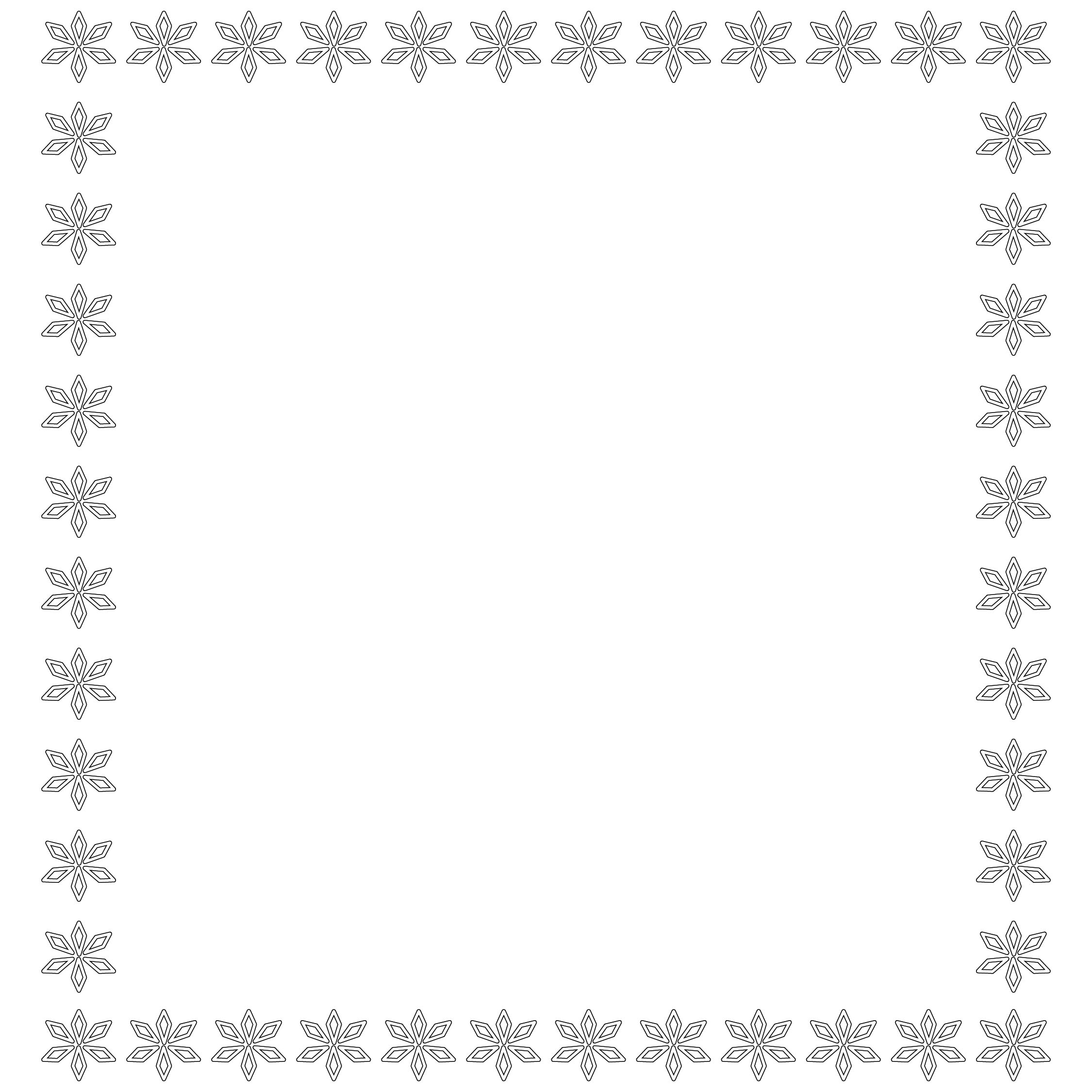 Christmas Printable Coloring Frame