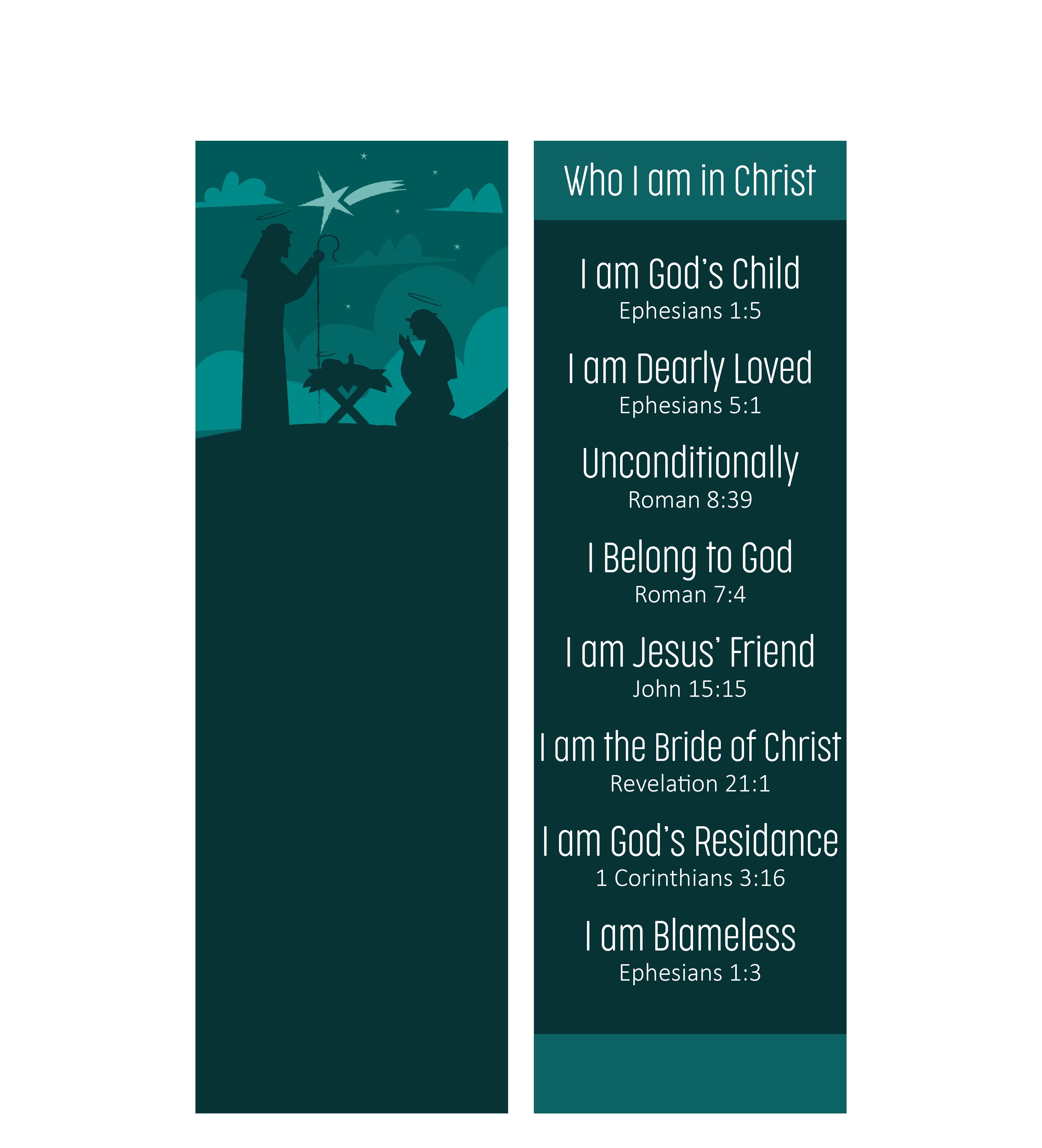 Christmas Templates  Printable Christian Bookmarks