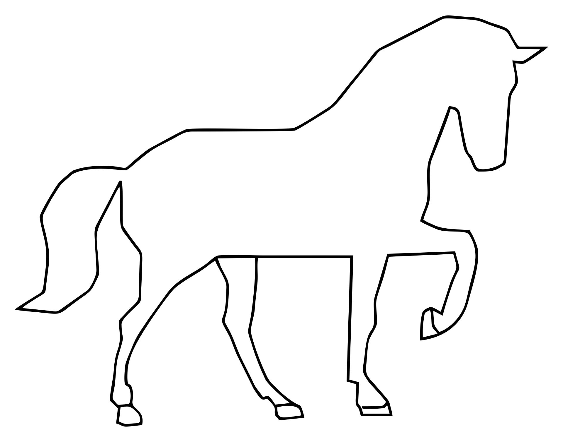 Printable Sewing Patterns Horse