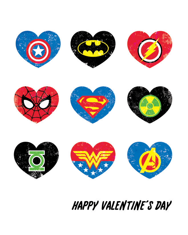 Superhero Valentine Printables