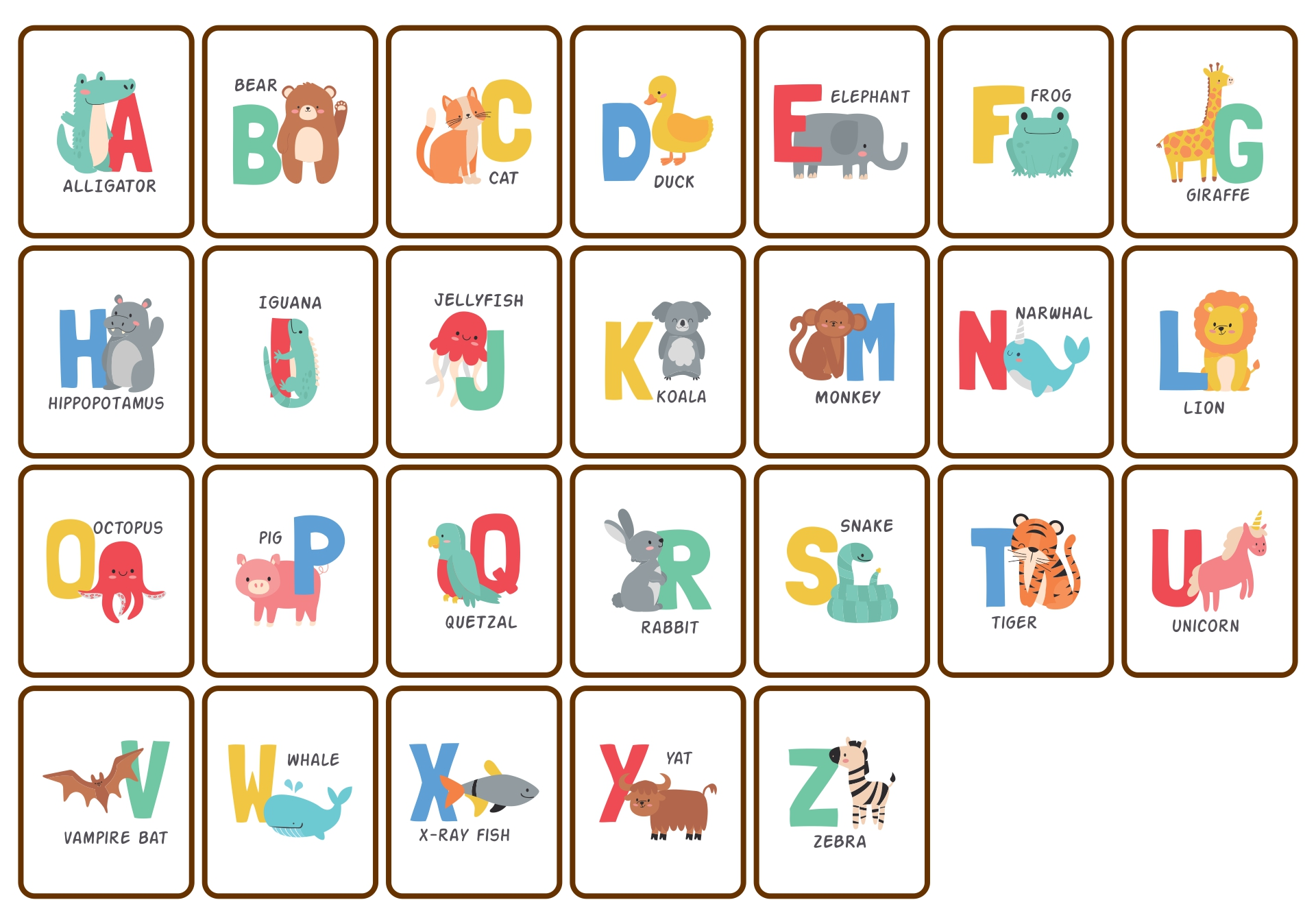 Fundations Sound Cards Printable