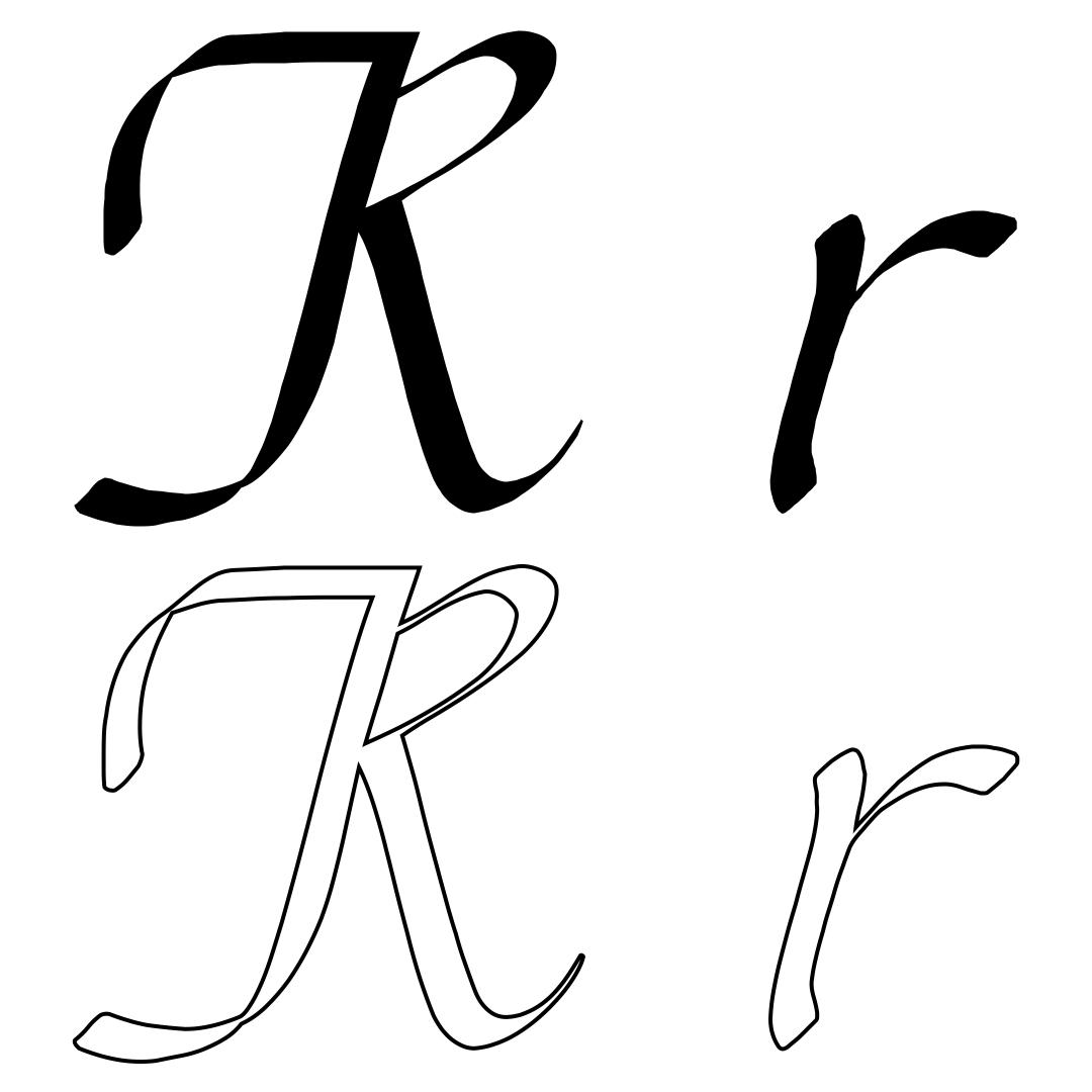 Printable Large Script Letters