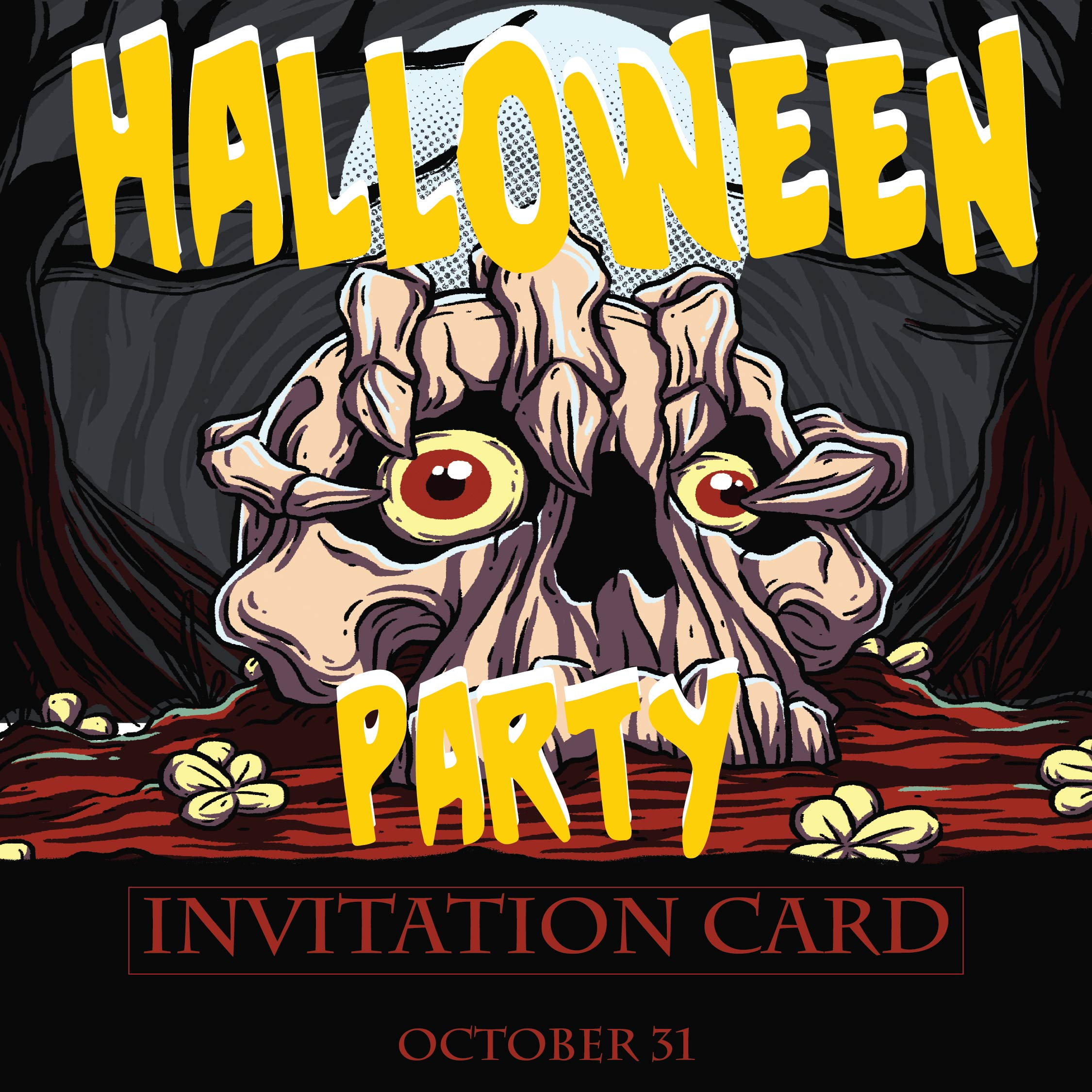 Printable Templates Halloween Party