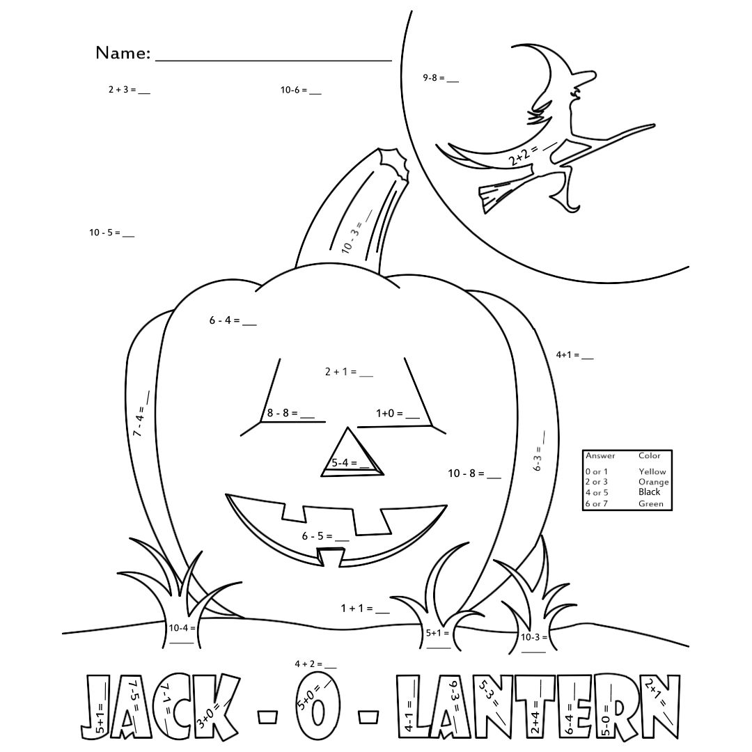 Printable Halloween Math Activities