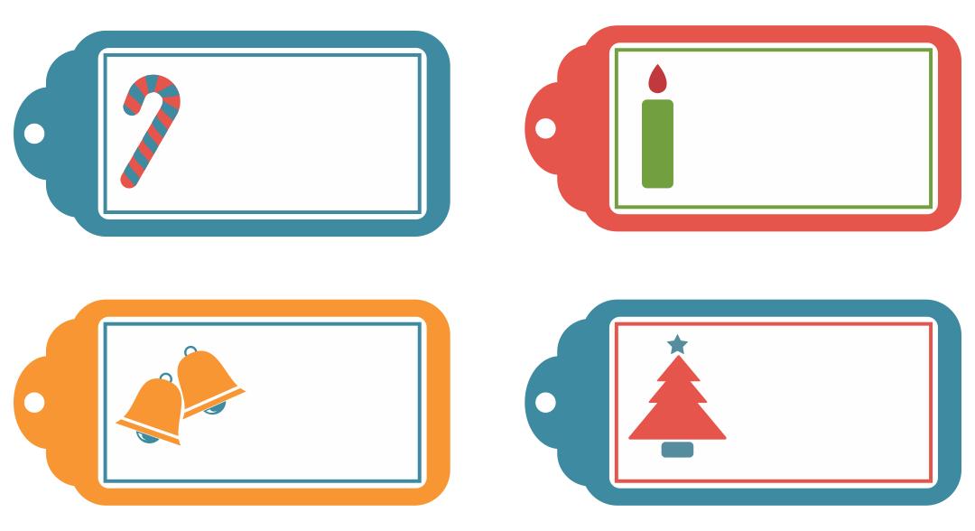 Blank Printable Christmas Tags