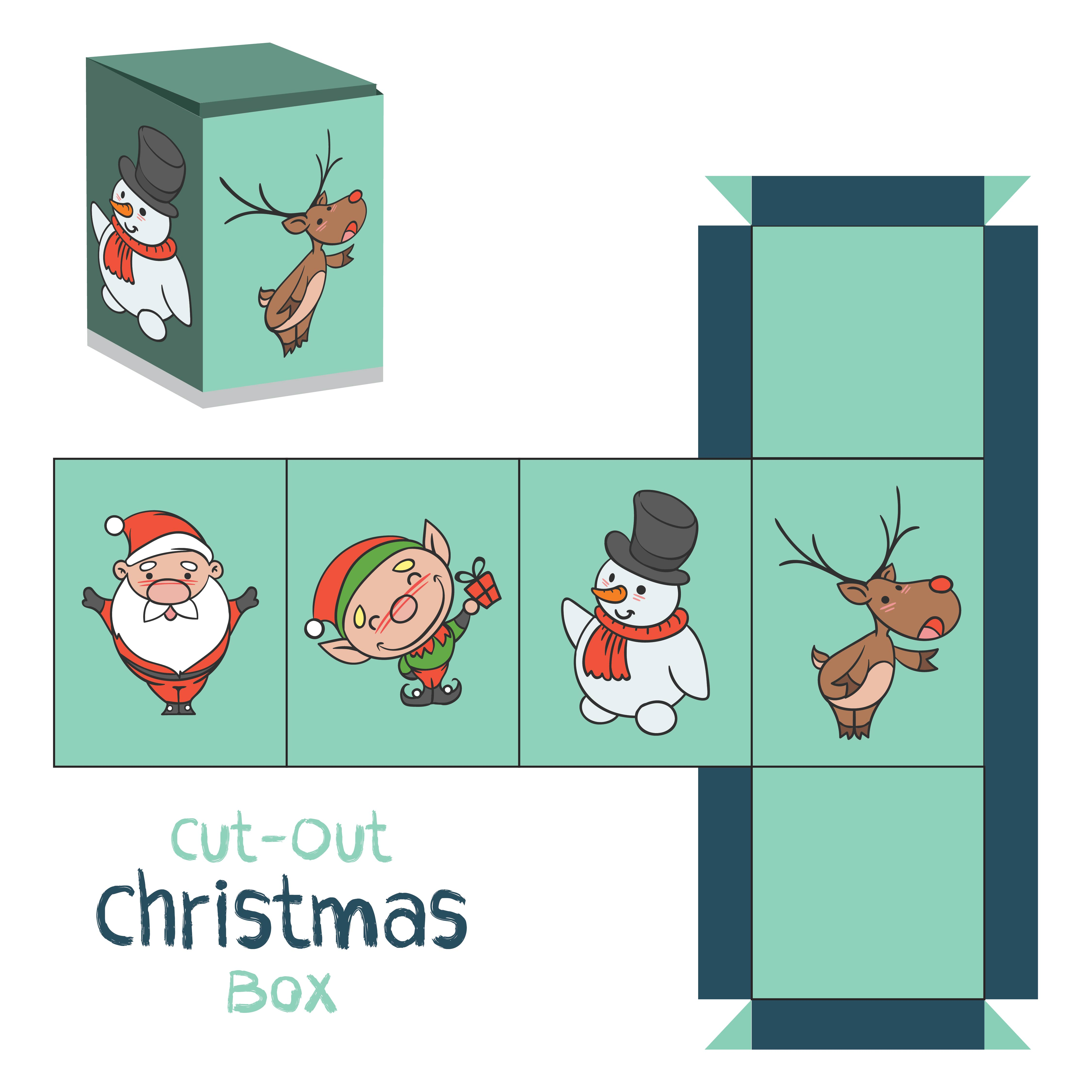 Printable Christmas Gift Box Template