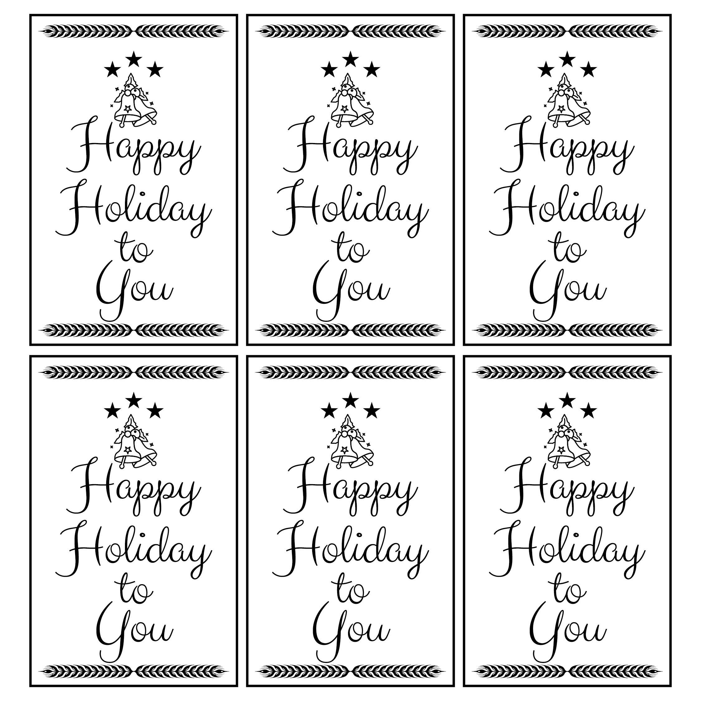 Black & White Printable Christmas Tags
