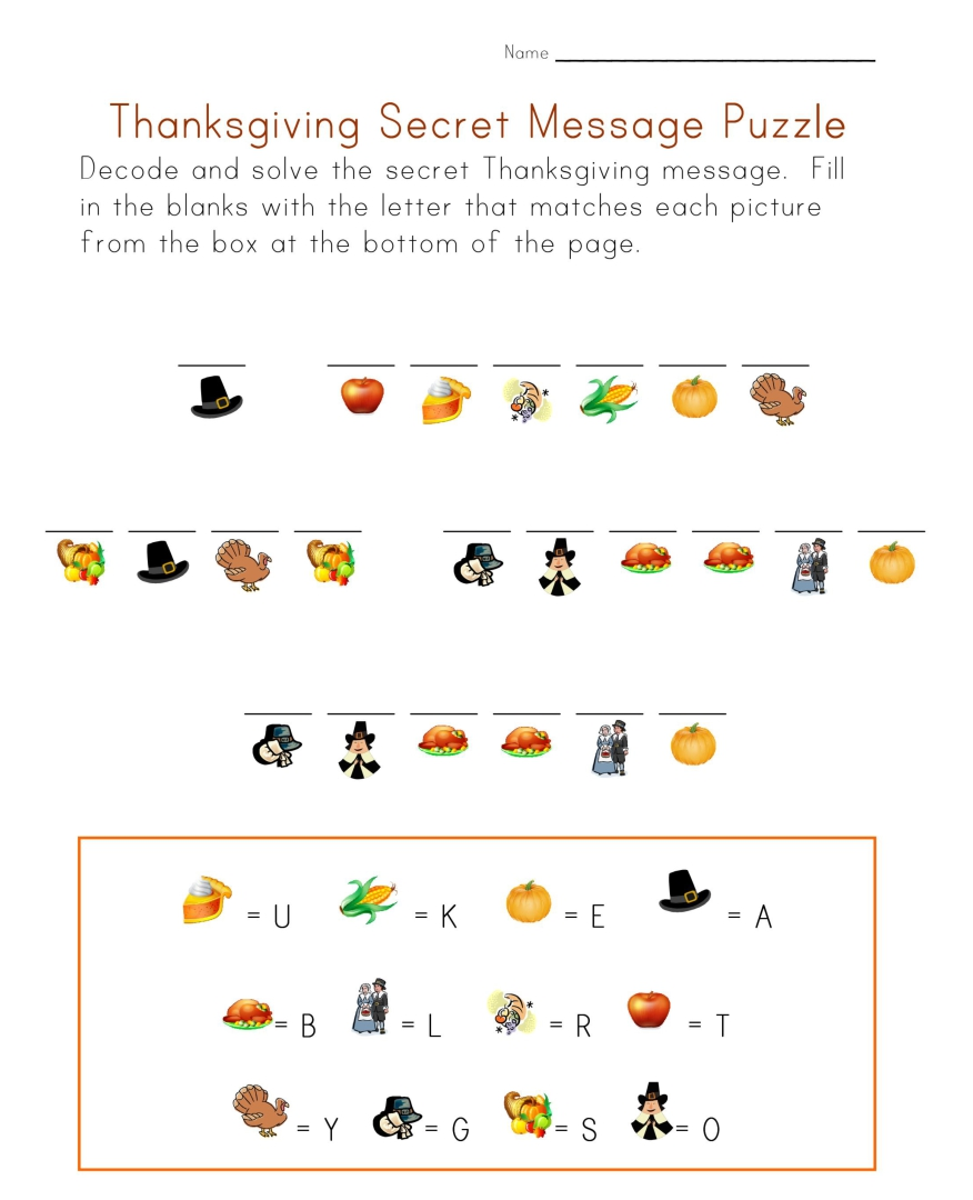Thanksgiving Church Printable Worksheets