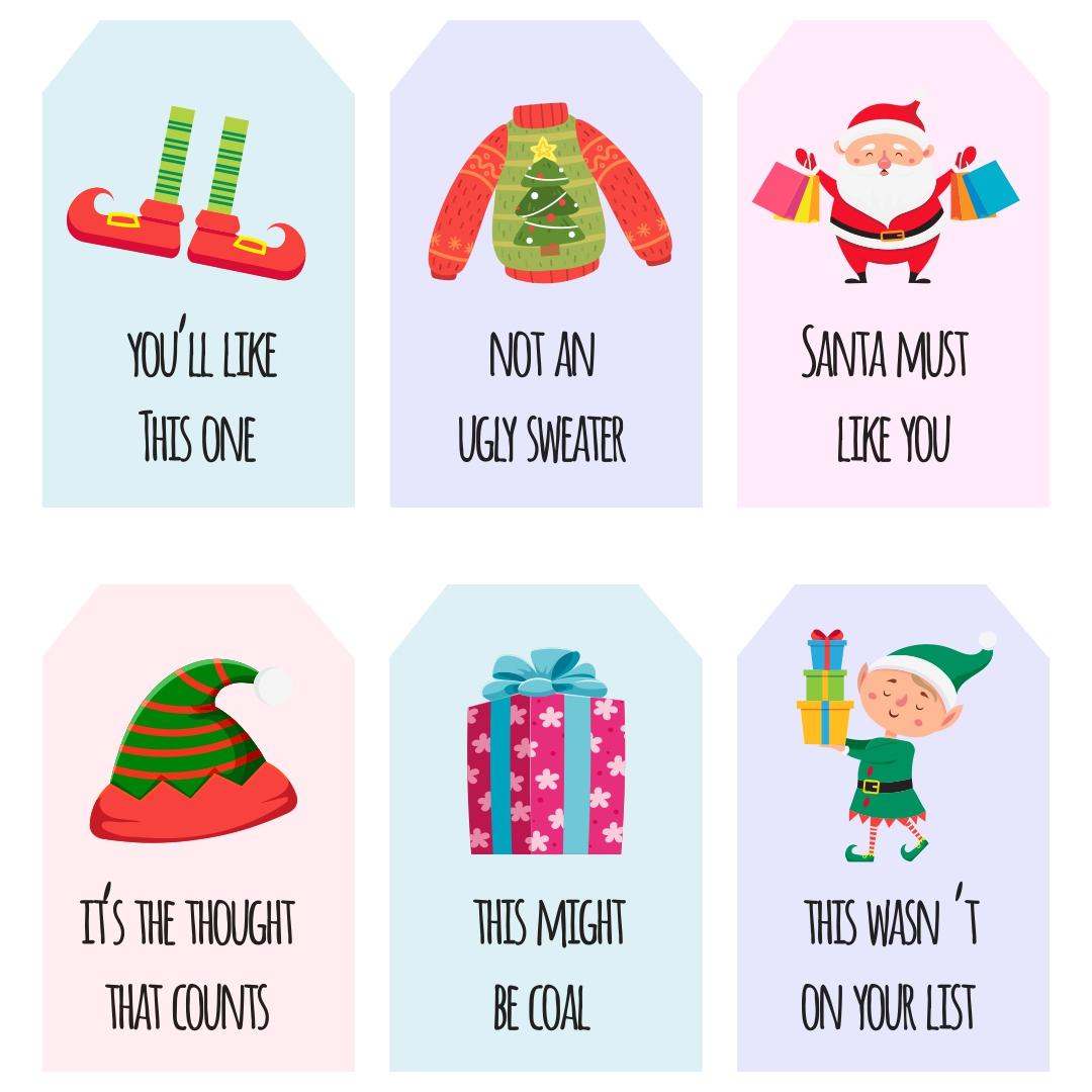 Funny Printable Christmas Gift Tags