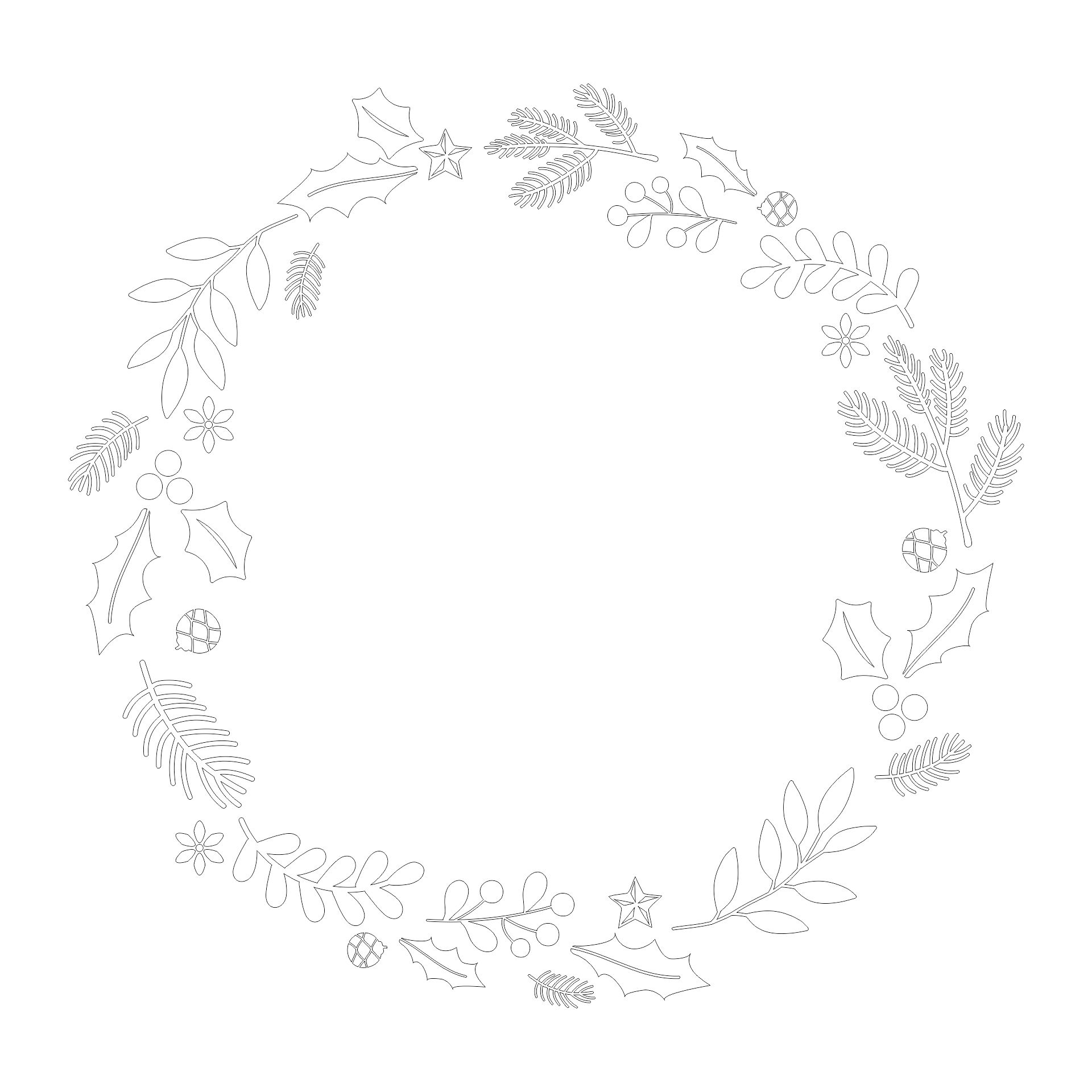 Printable Wreath Template