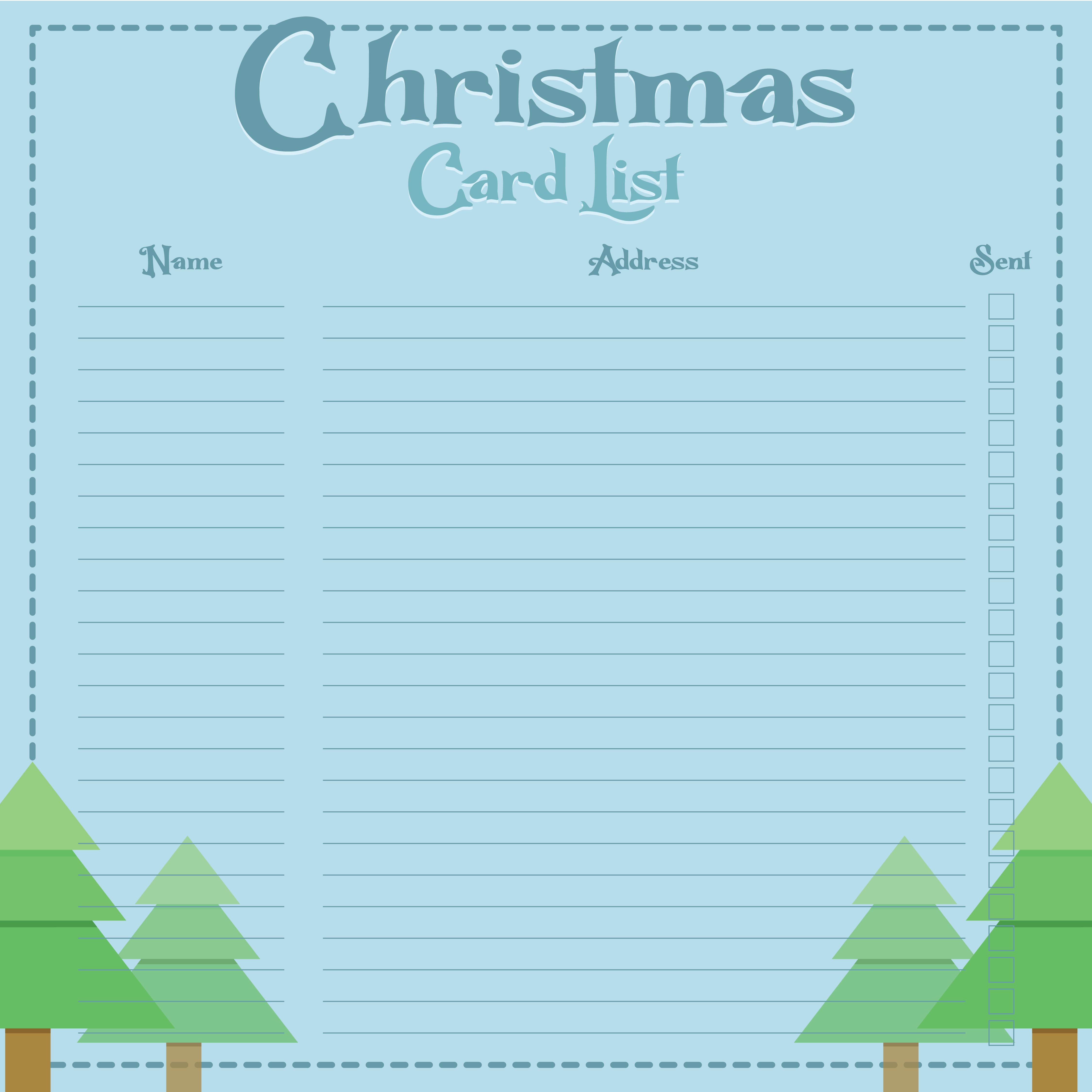 Editable Printable Christmas List