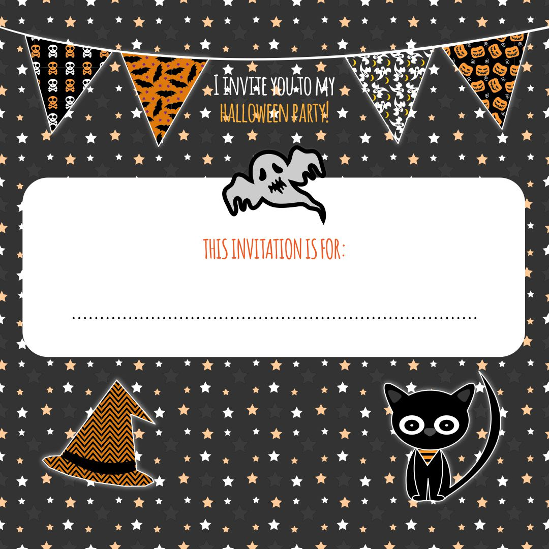 Home Printable Halloween Invites