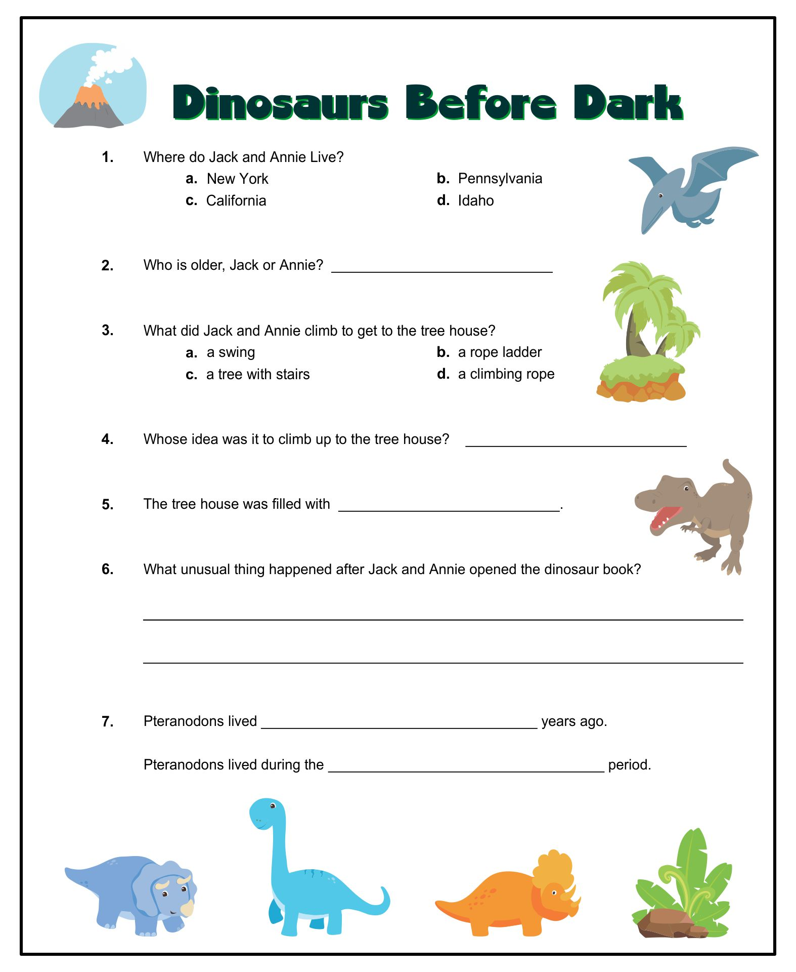 Magic Tree House Printables