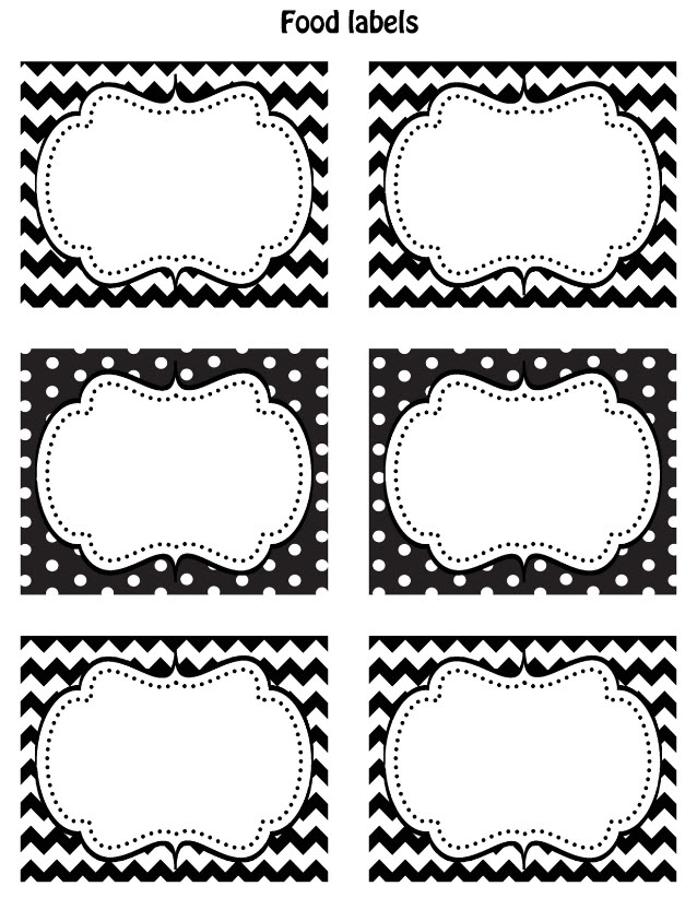 Black And White Printable Christmas Name Tags