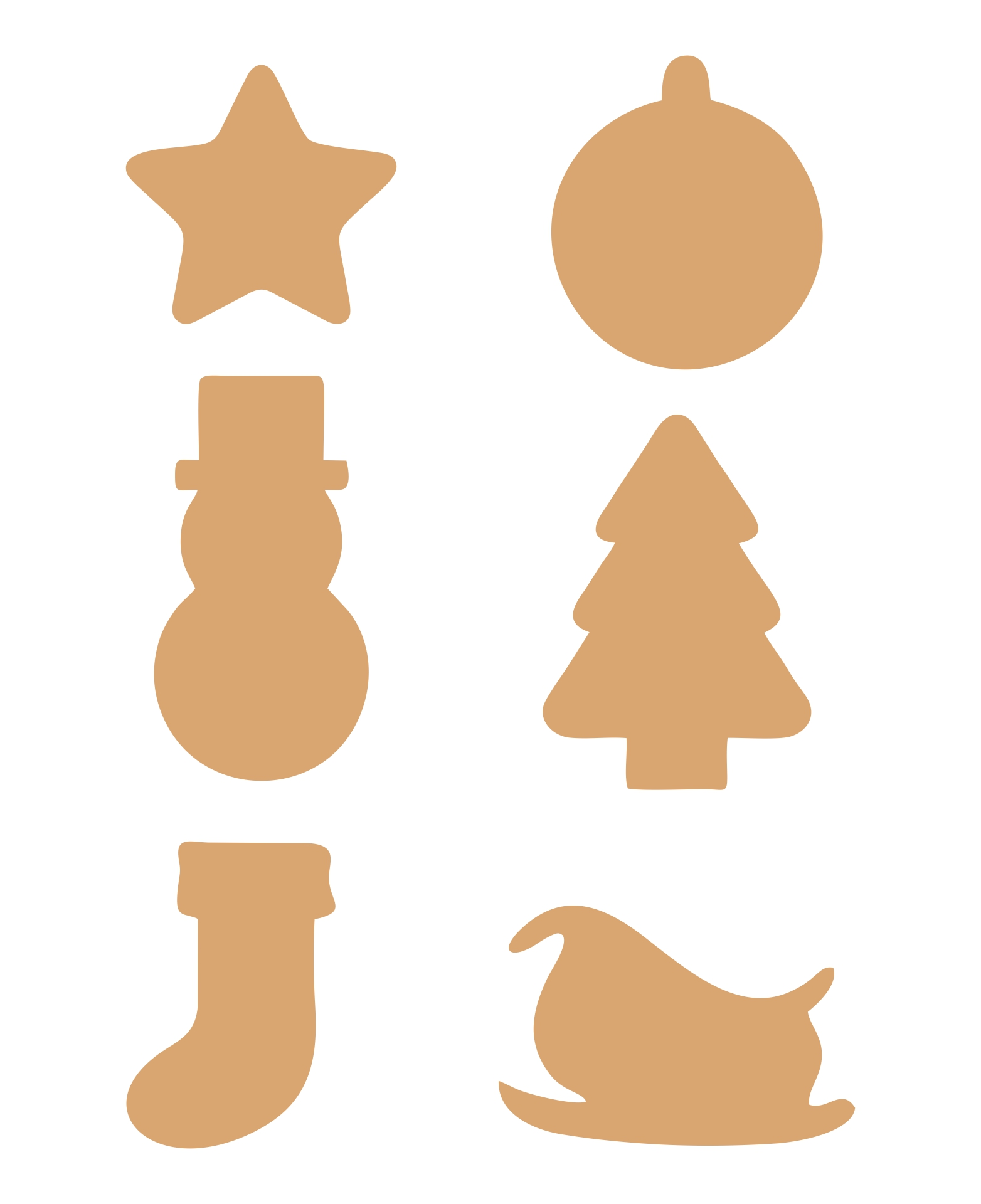 Printable Christmas Ornaments Cutouts