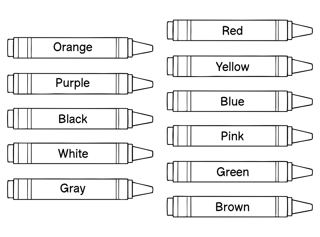 Crayon Shape Printable
