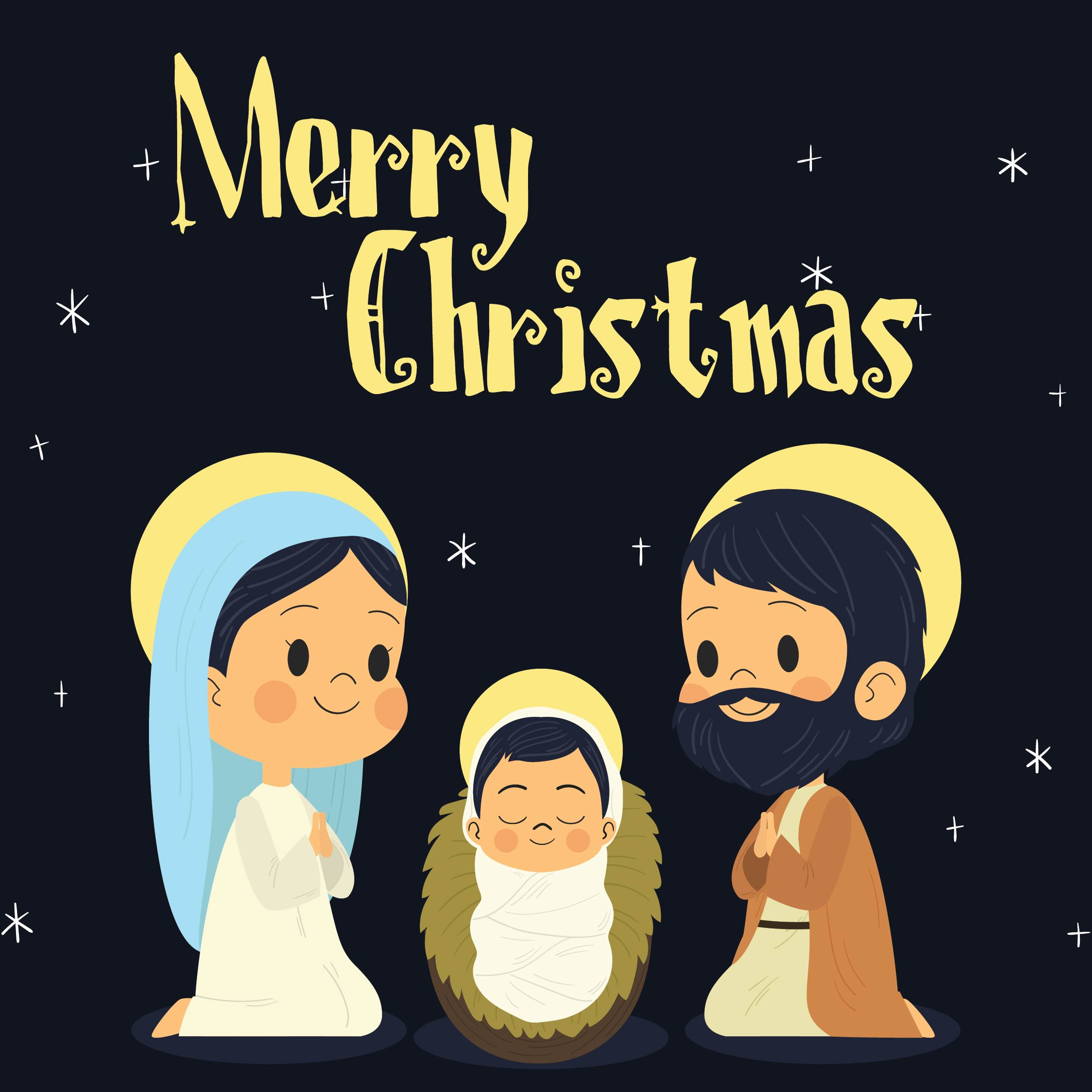 Spiritual Christmas Cards  Printable