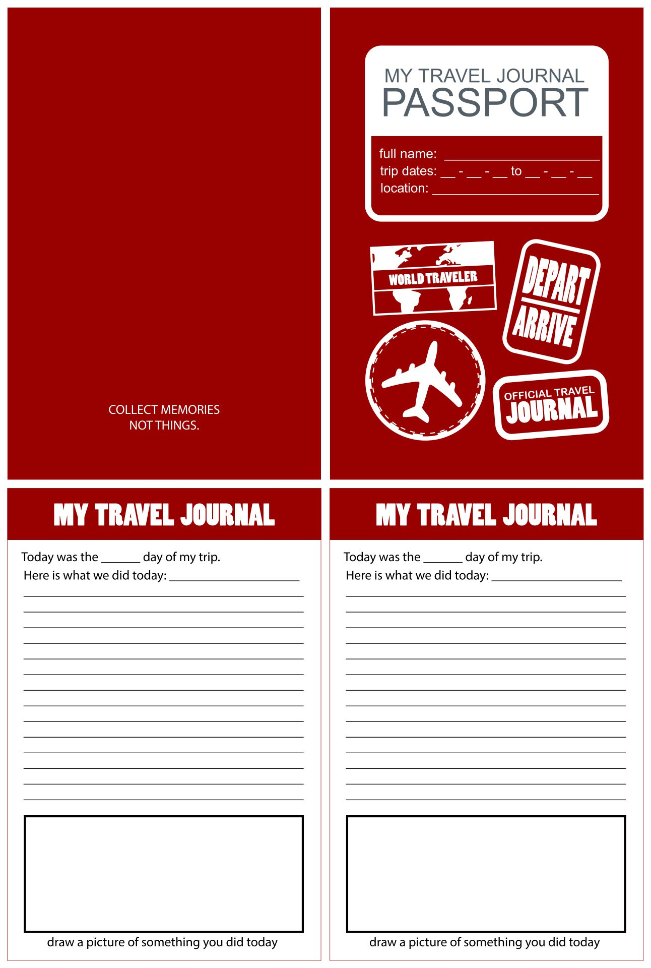 Travel Journal Printable Template