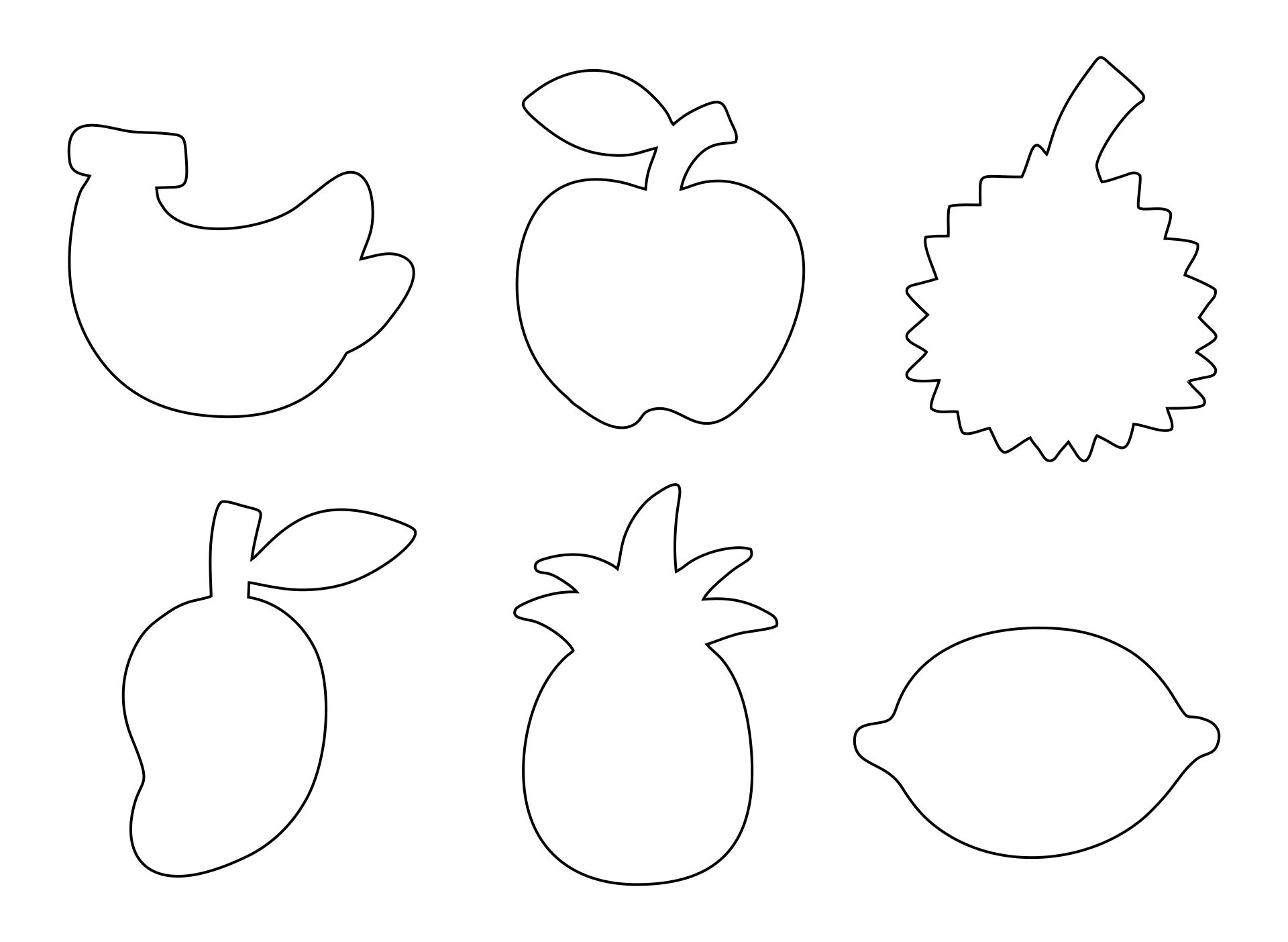 Fruit Cutouts Printable