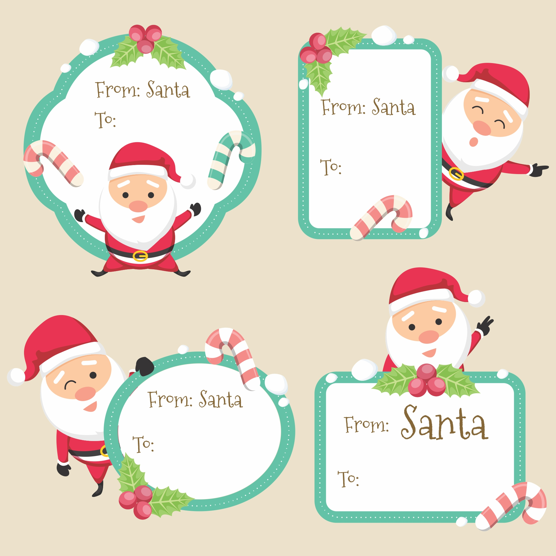 Secret Santa Gift Tags Printable