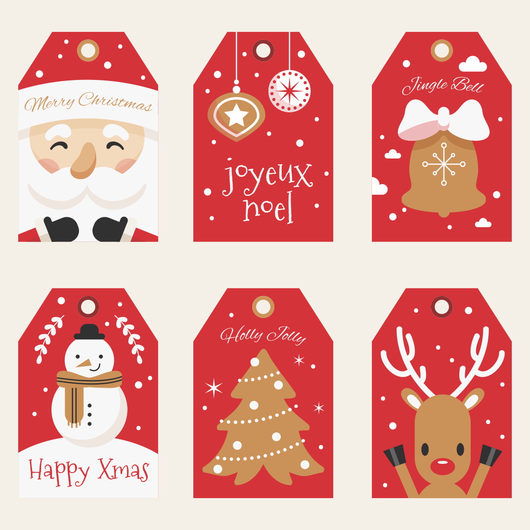 Christmas Printable Labels Templates