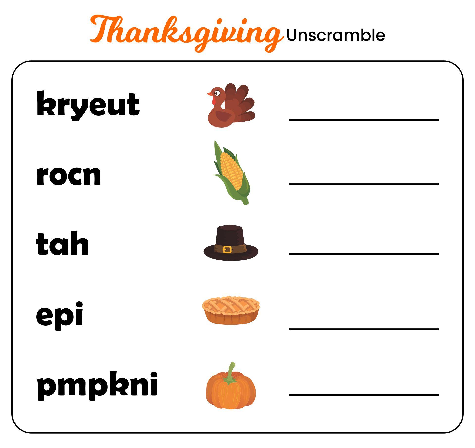 8 Best Preschool Printables Thanksgiving Worksheets - Printablee.com