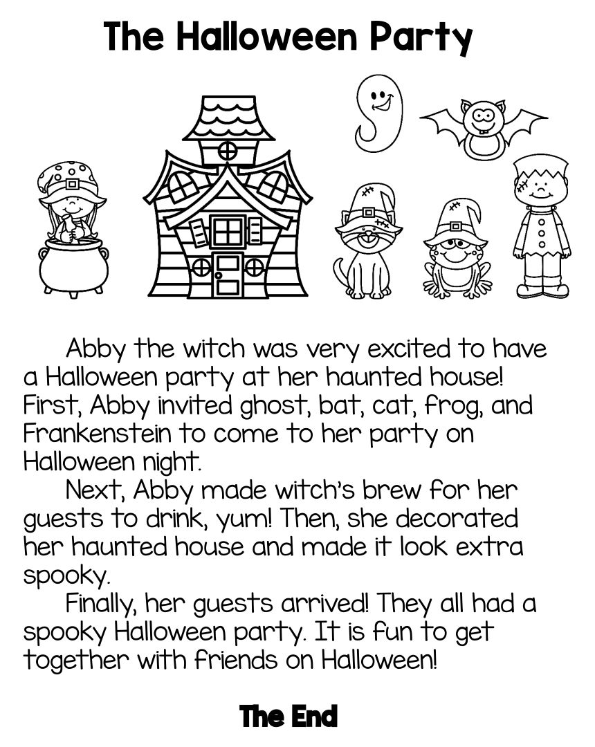 Printable Halloween Stories
