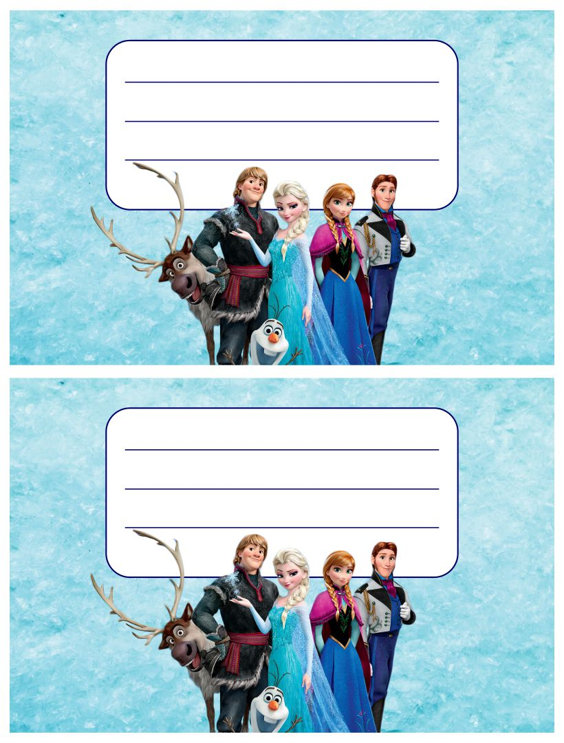 Disney Frozen Printable Birthday Cards
