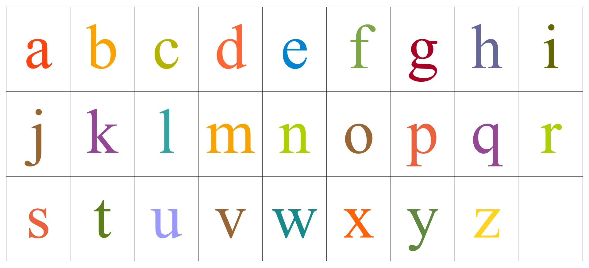 2 Inch Alphabet Letters Printable