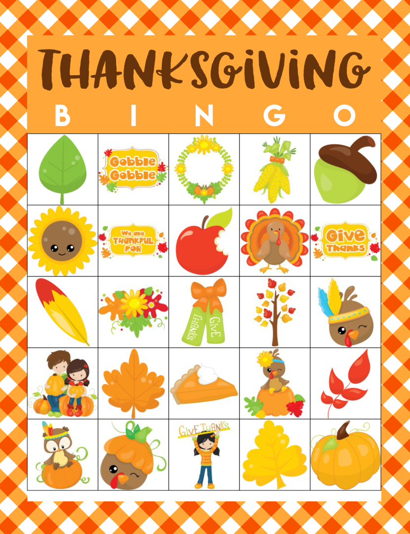Printable Thanksgiving Bingo Sheets