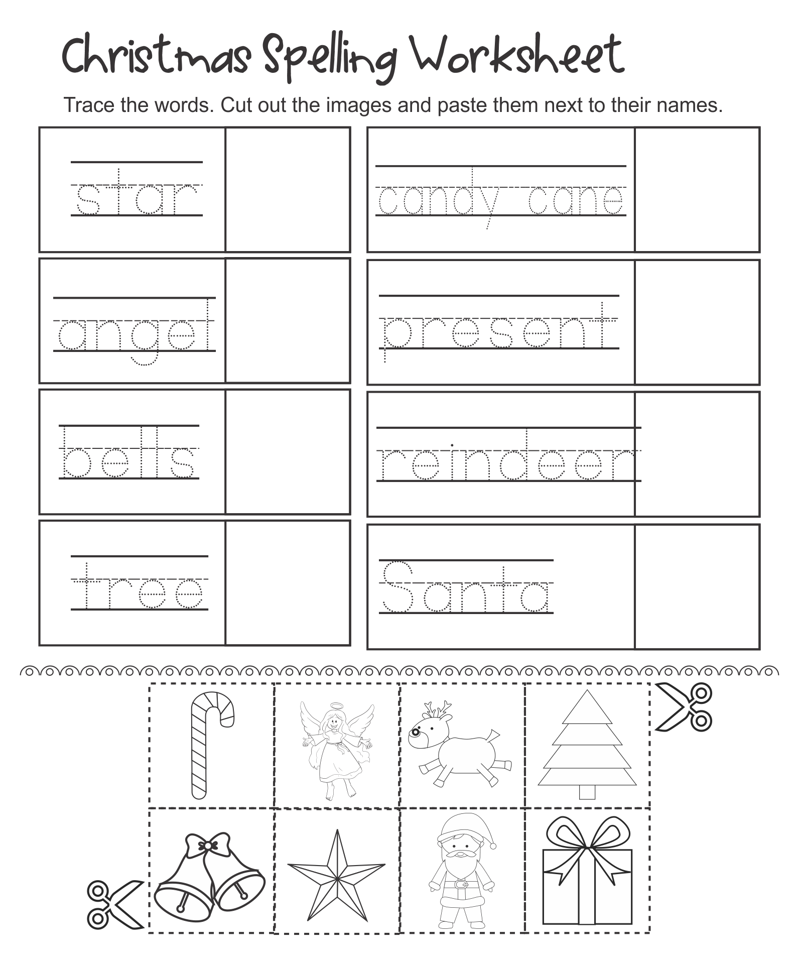 Kindergarten Christmas Activities  Printable