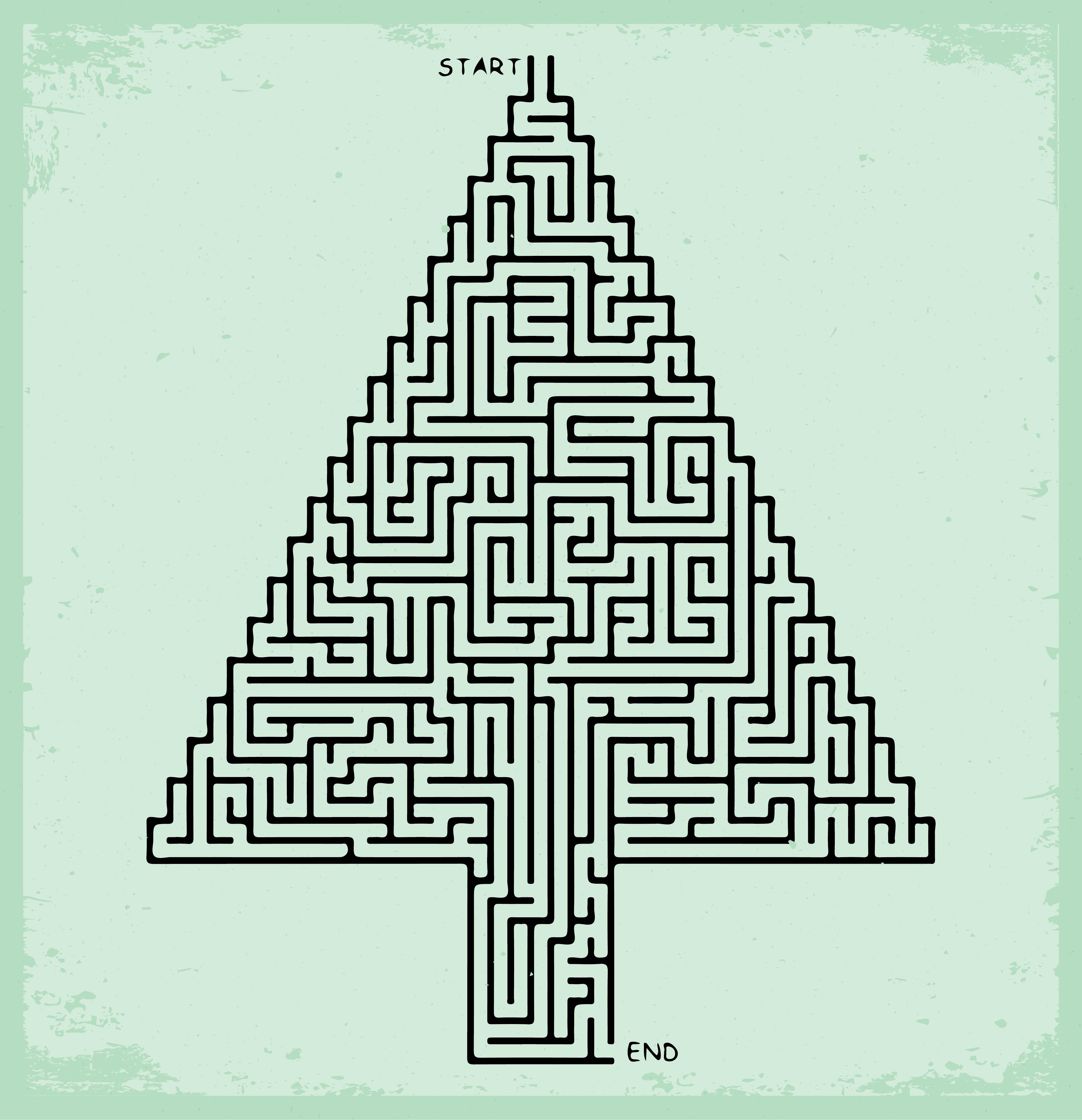 Christmas Tree Maze Printable
