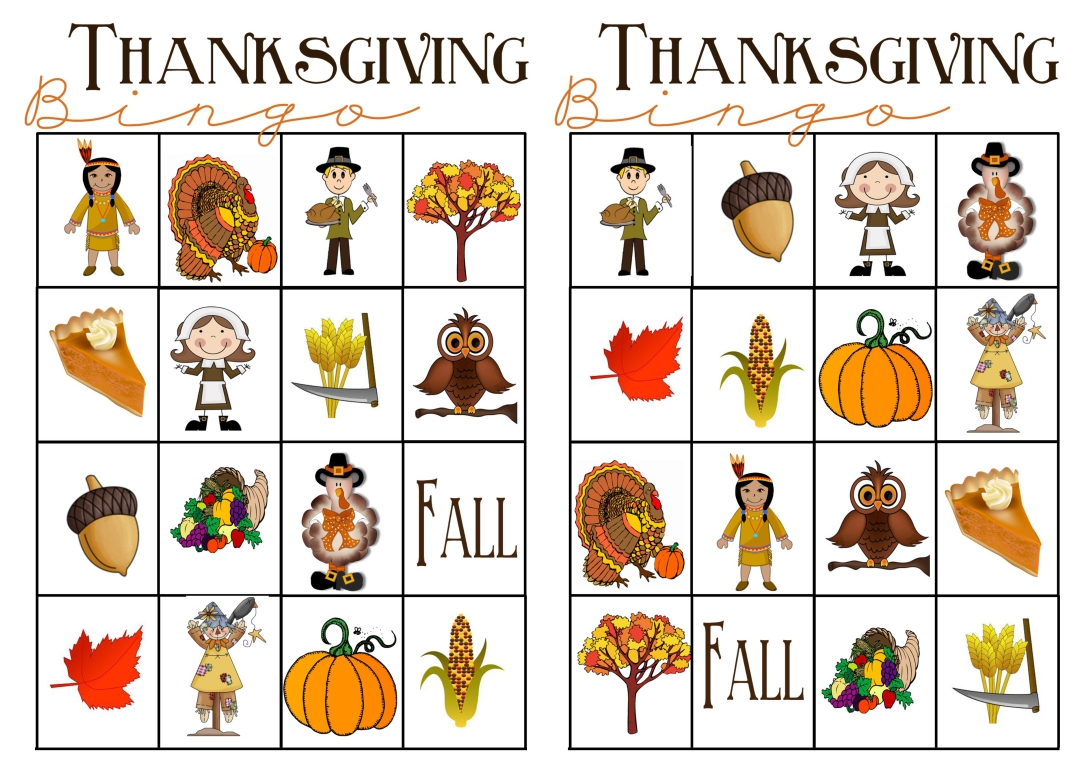 Printable Thanksgiving Matching Games