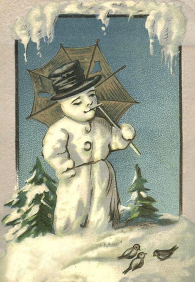 Snowman Vintage Christmas Printables