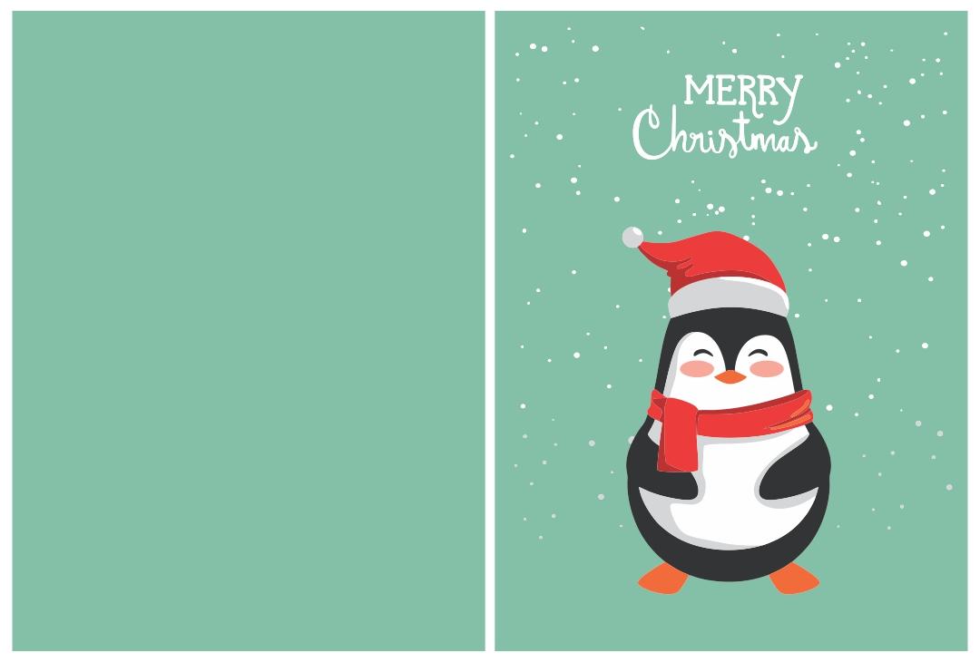 Printable Owl Christmas Cards