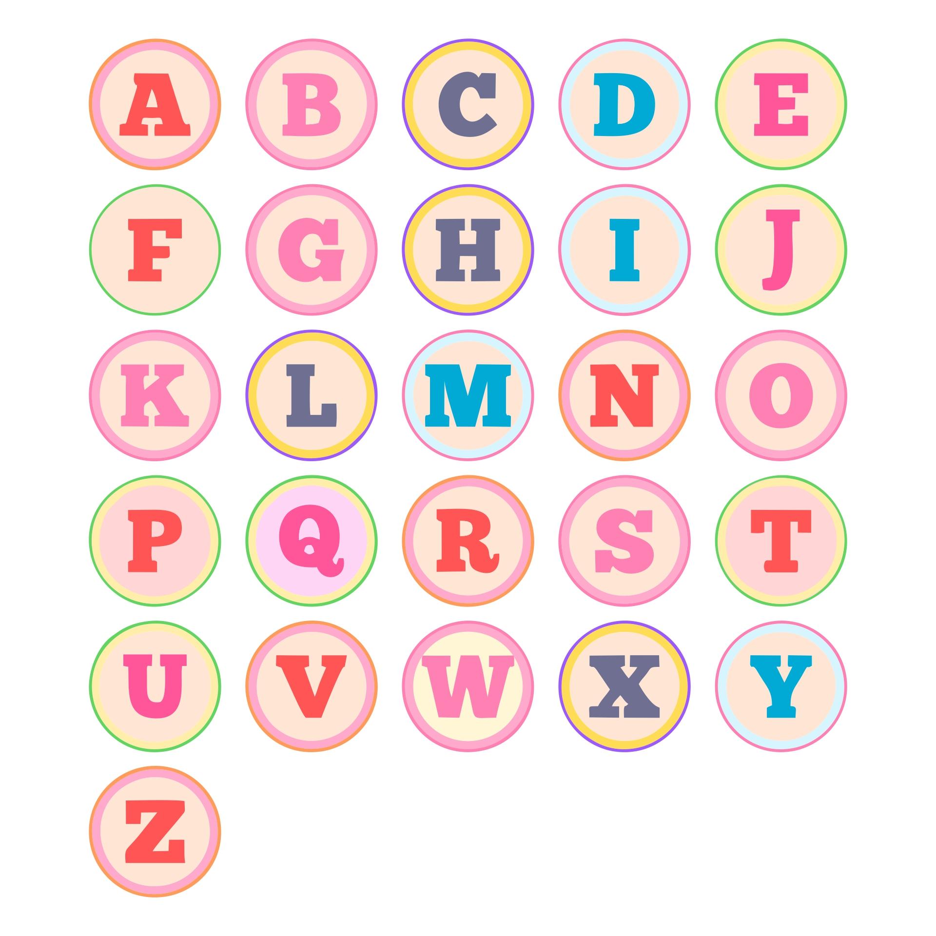 DIY Printable Alphabet Letters