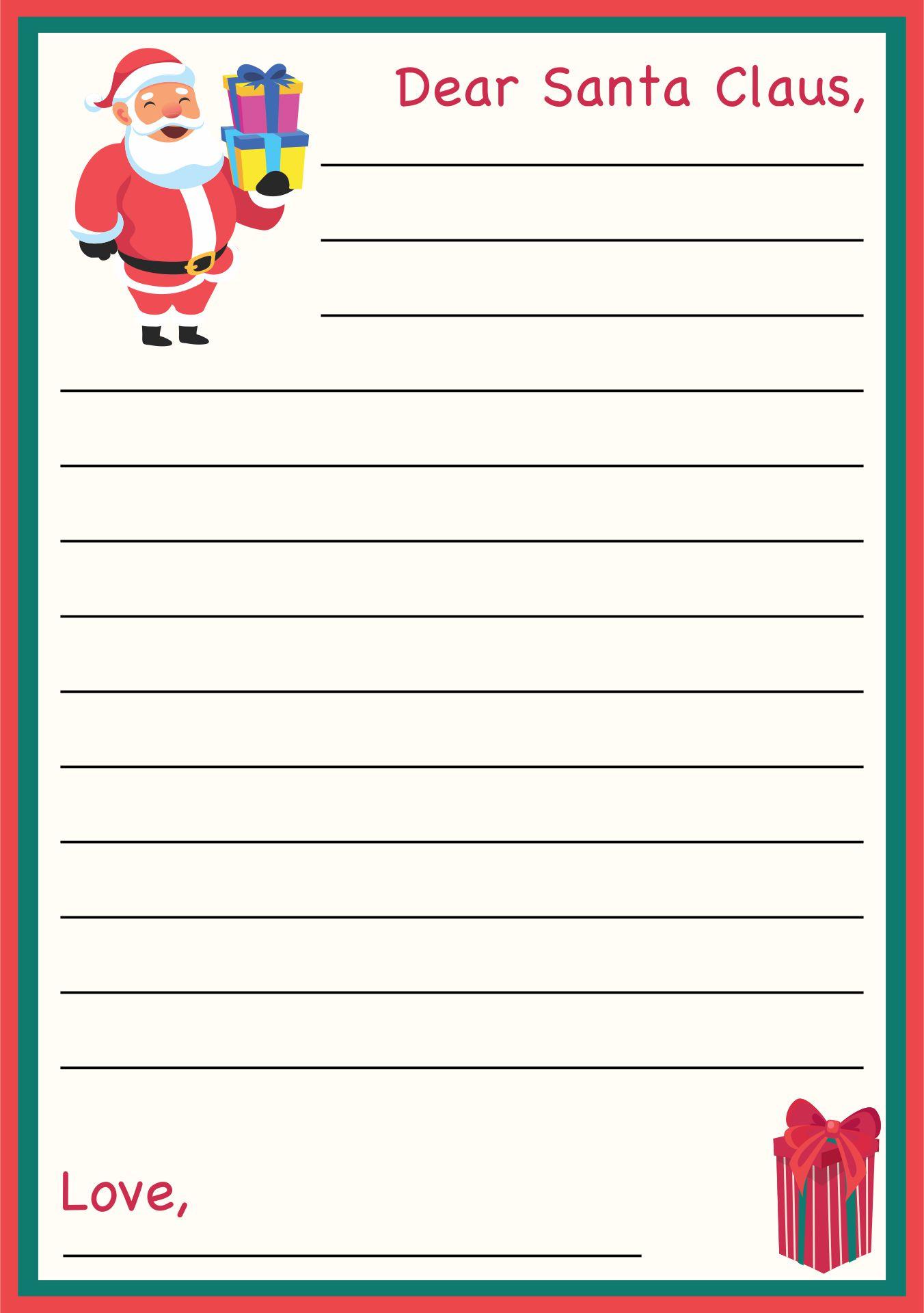 Christmas Santa Letter Printable