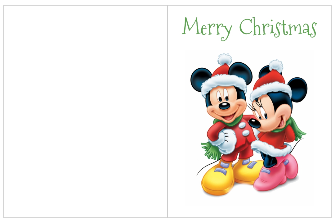 Disney Printable Christmas Cards