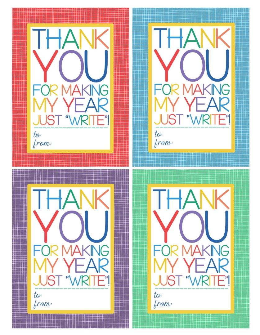 Teacher Gift  Printable Christmas Tags