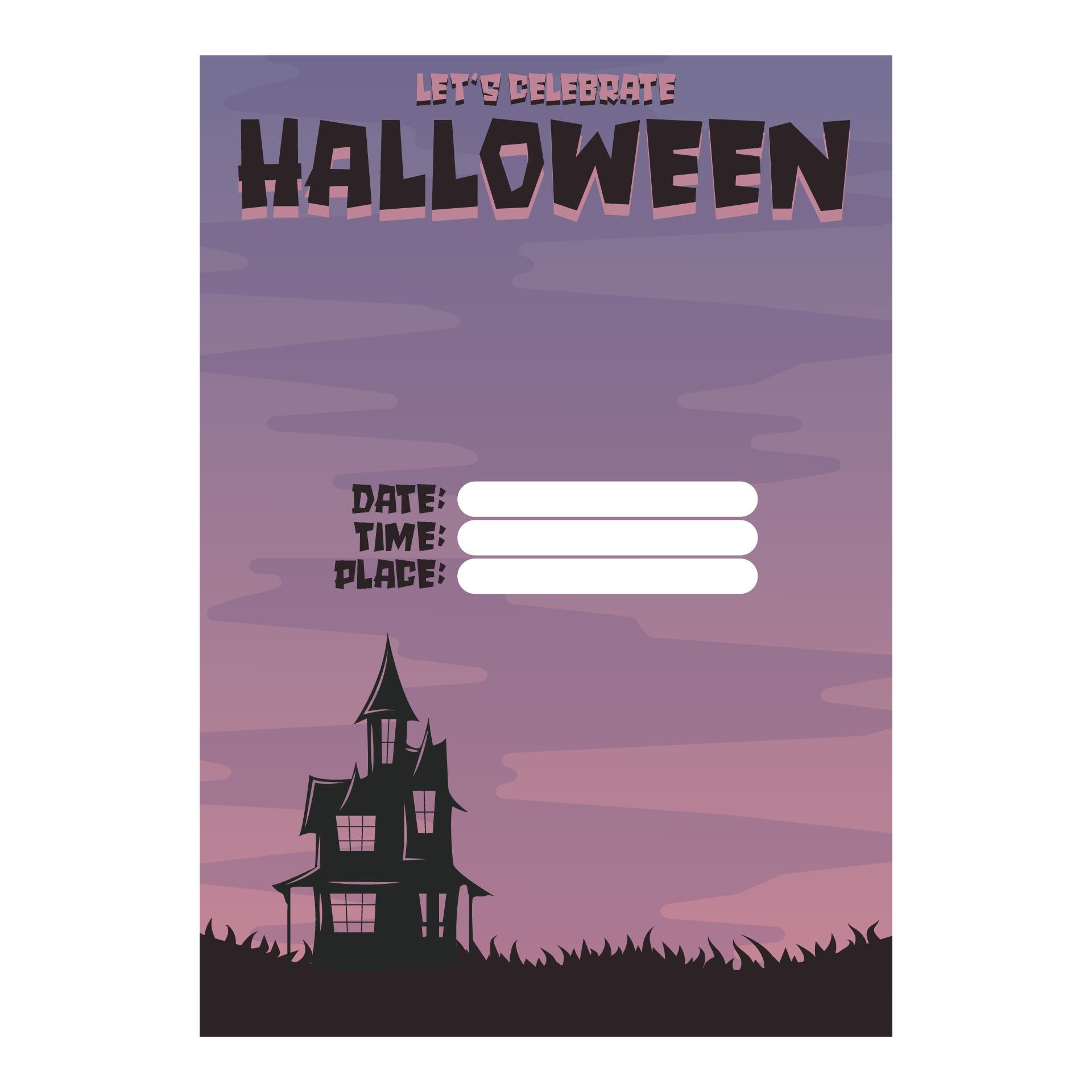 Halloween Printable Party Invitations