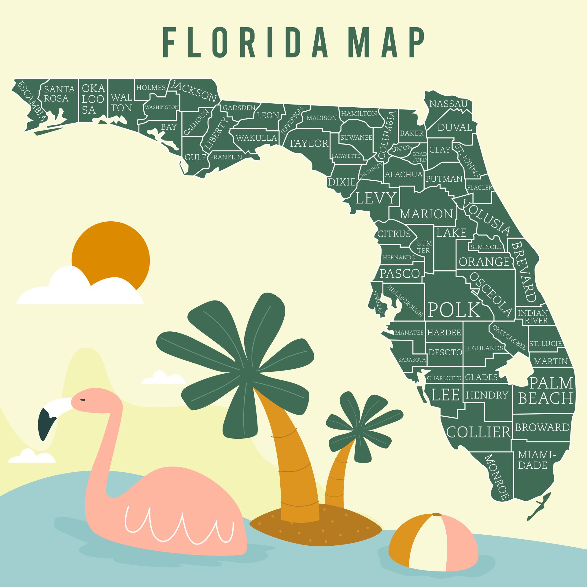 Florida State Map Printable