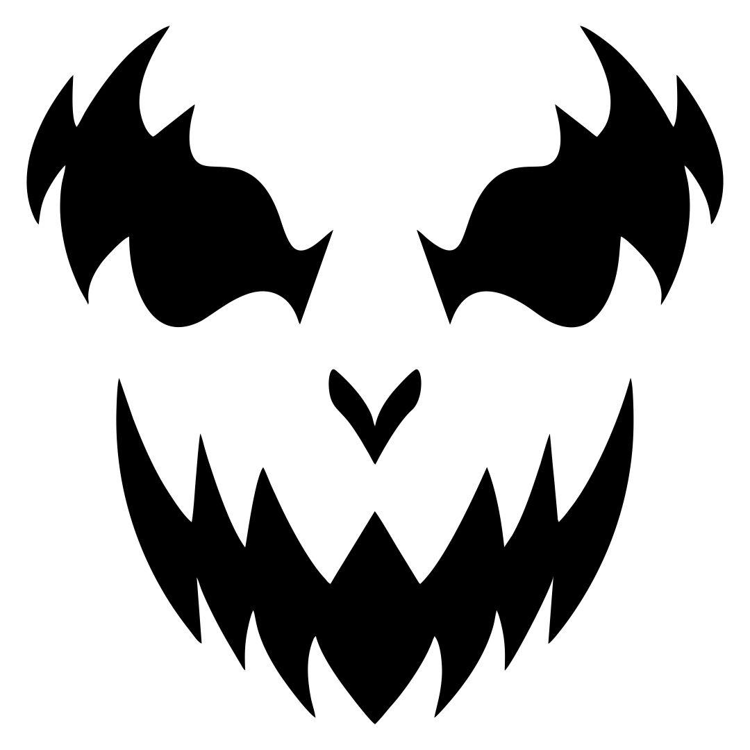 10 Best Printable Scary Halloween Faces Printablee Com