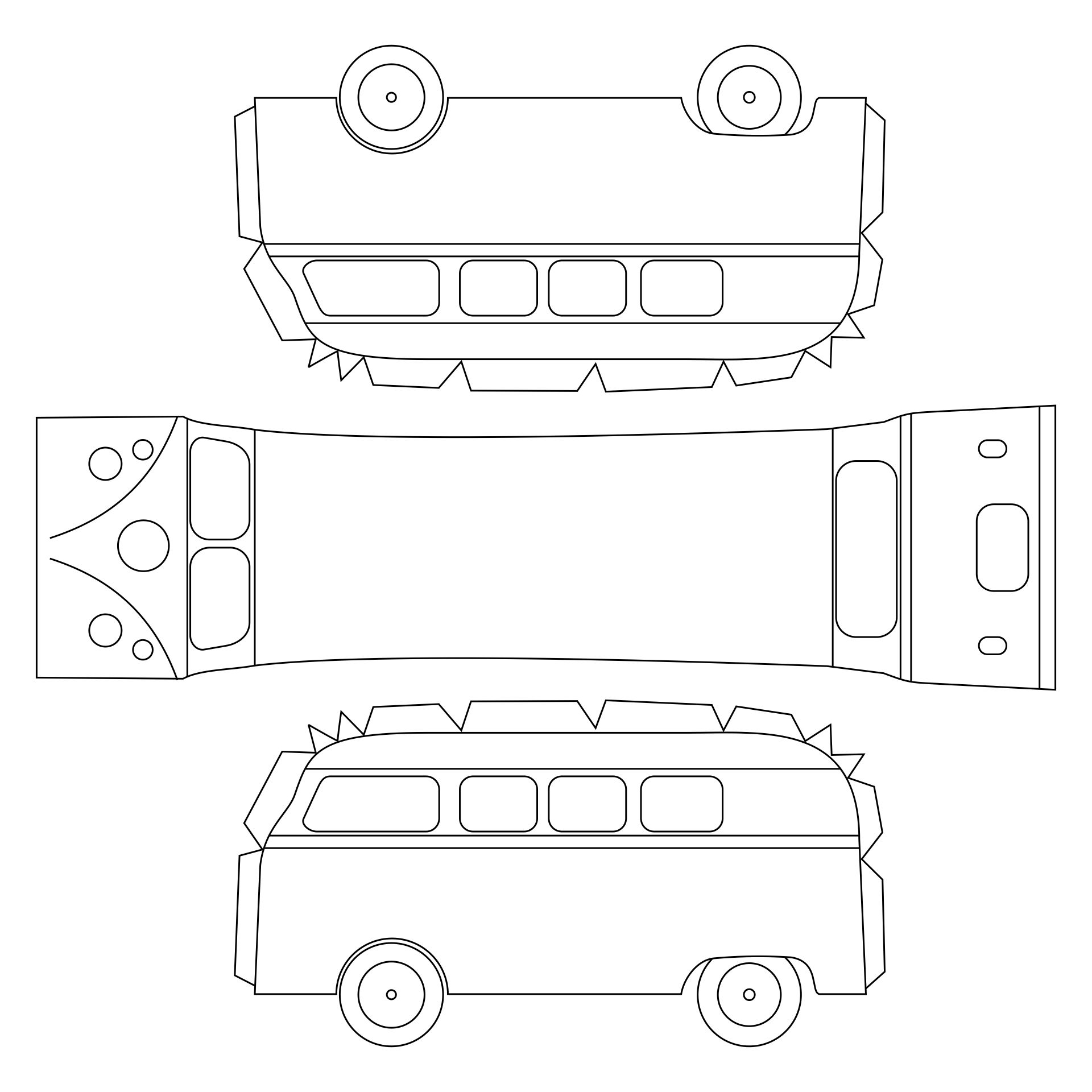 VW Bus Paper Template Printable