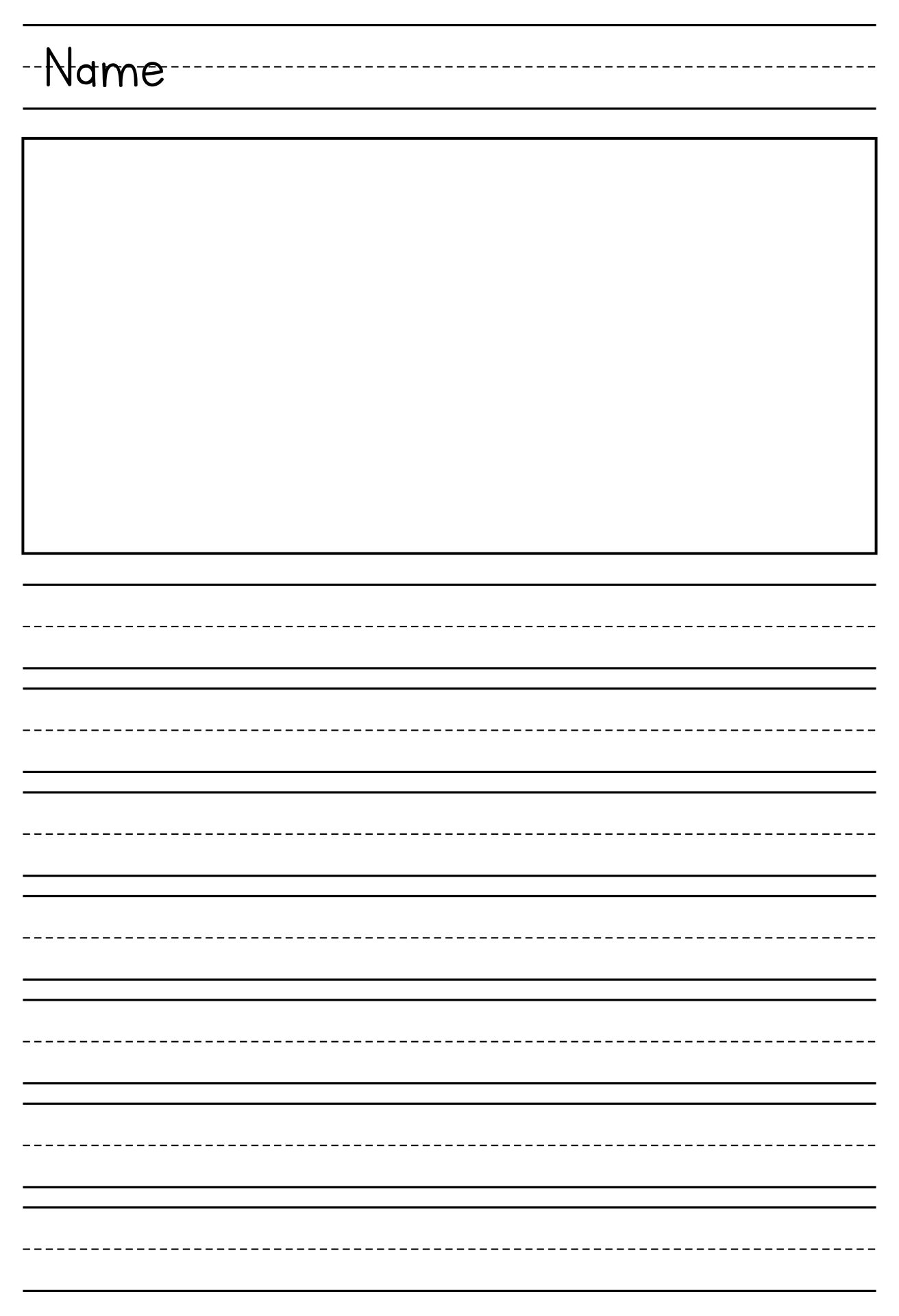 Printable Primary Writing Paper Template