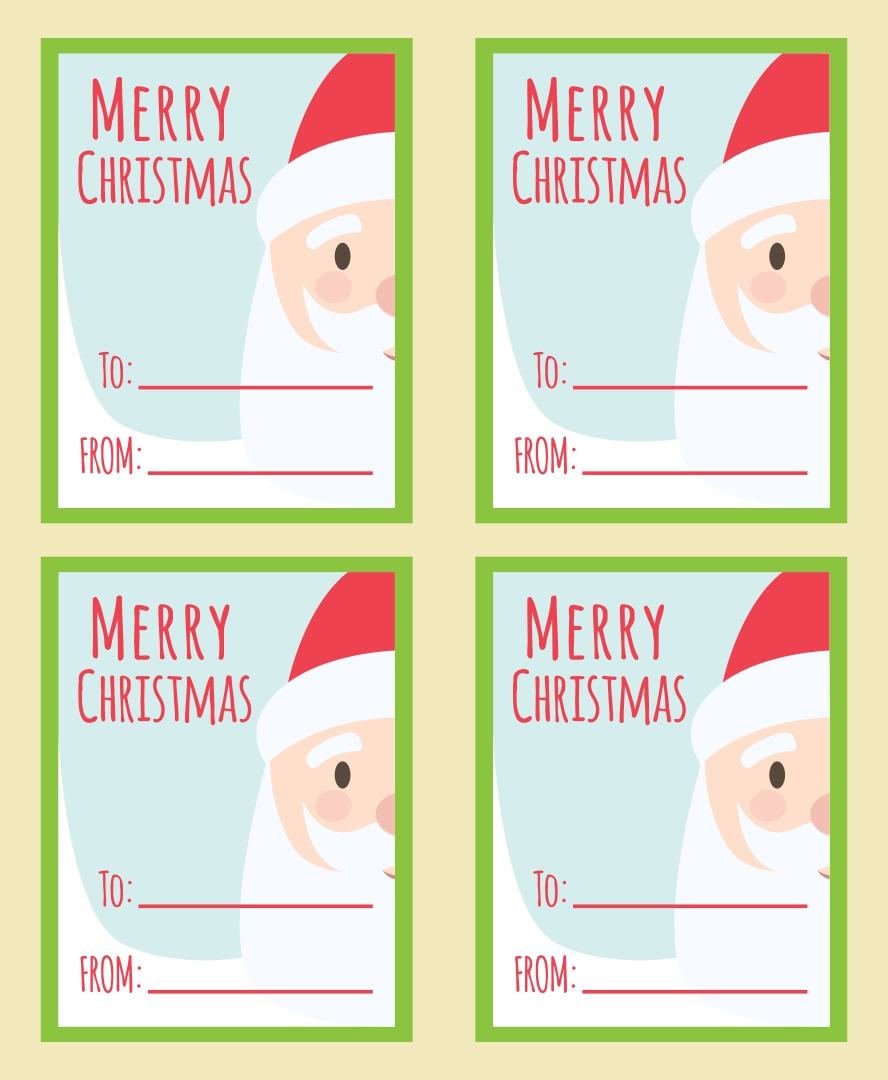 Printable Christmas Gift Basket Tags