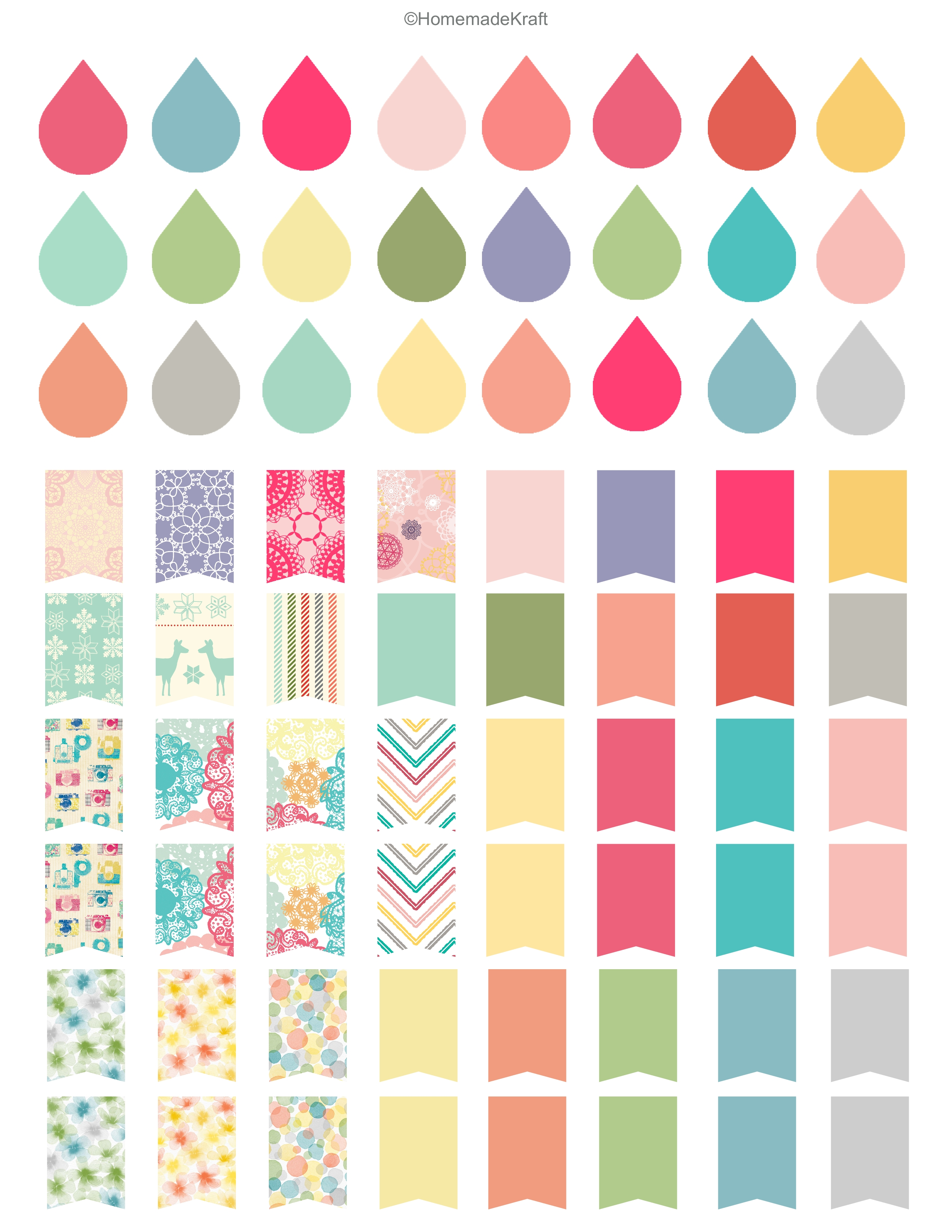 Printable Planner Sticker Sheets