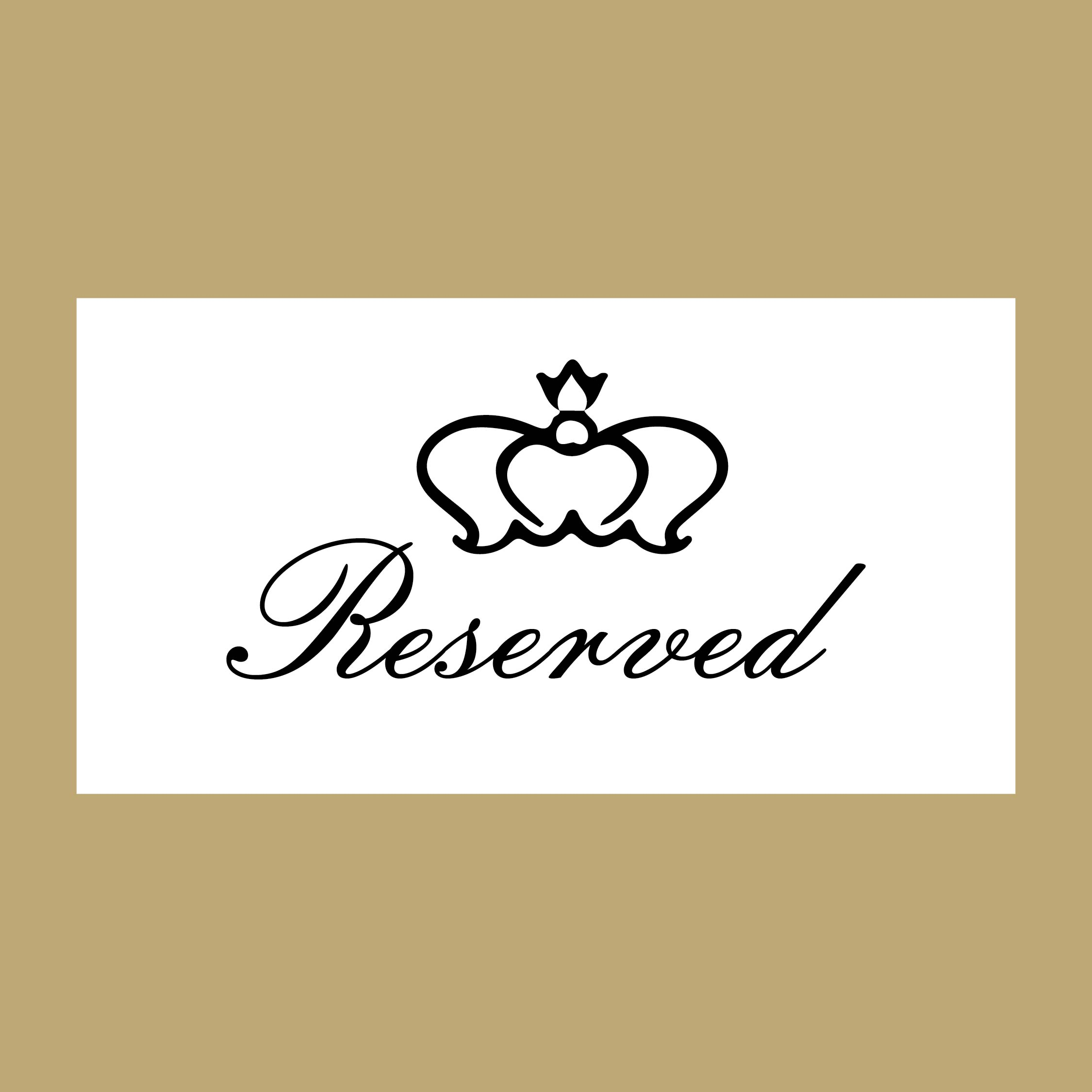 Printable Wedding Reserved Signs