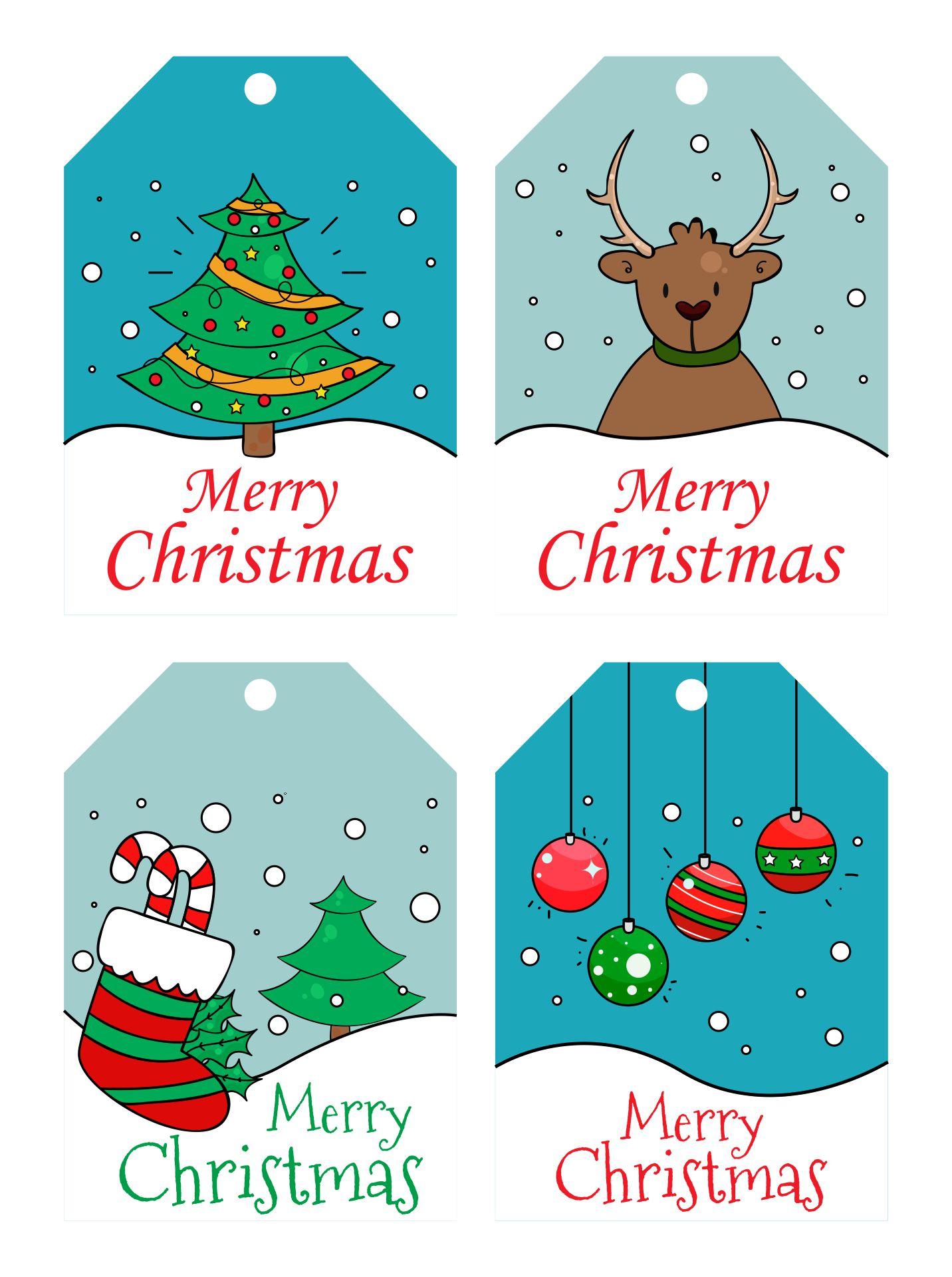 Printable Gift Tags Merry Christmas