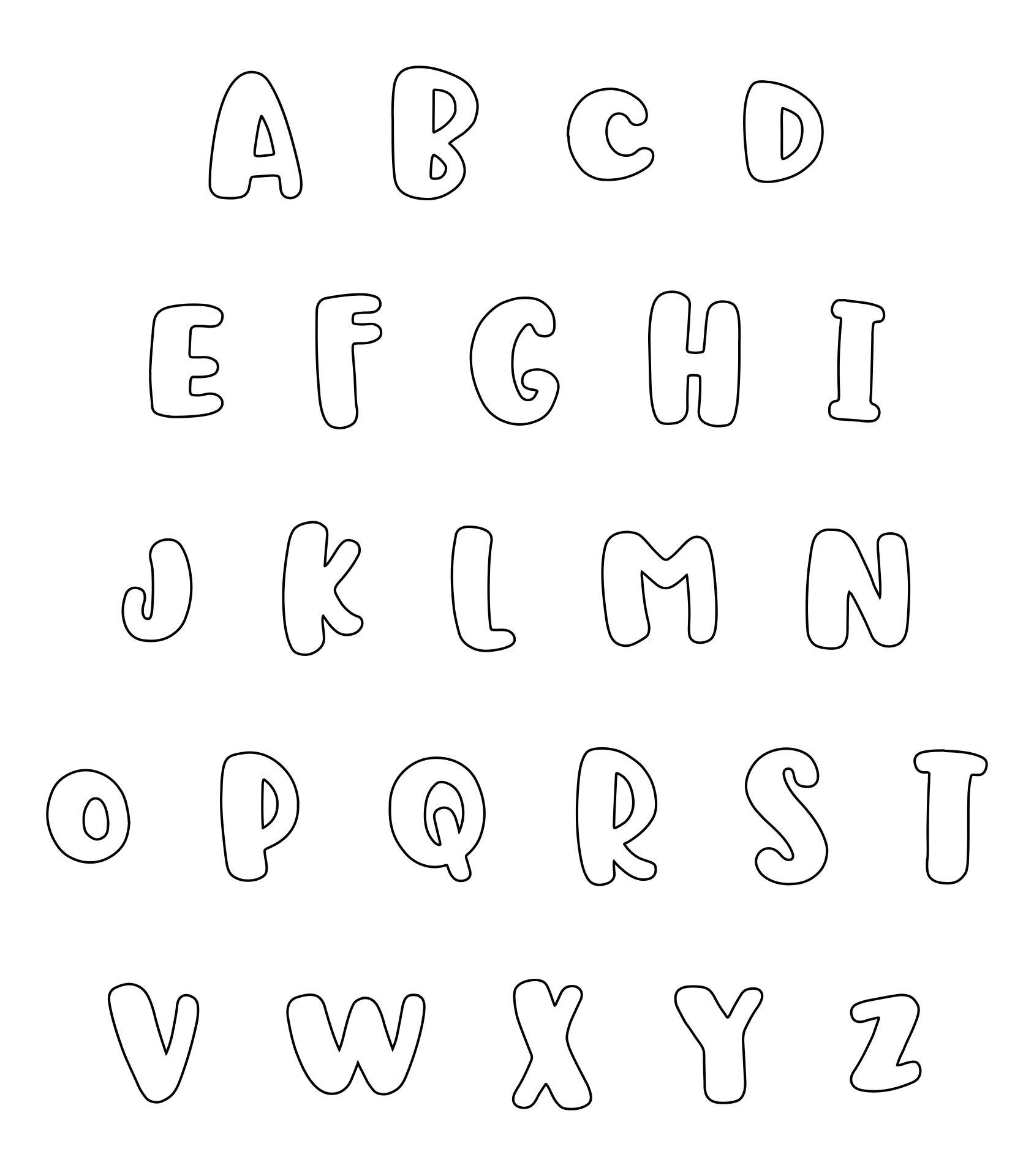 Printable Letter Fonts