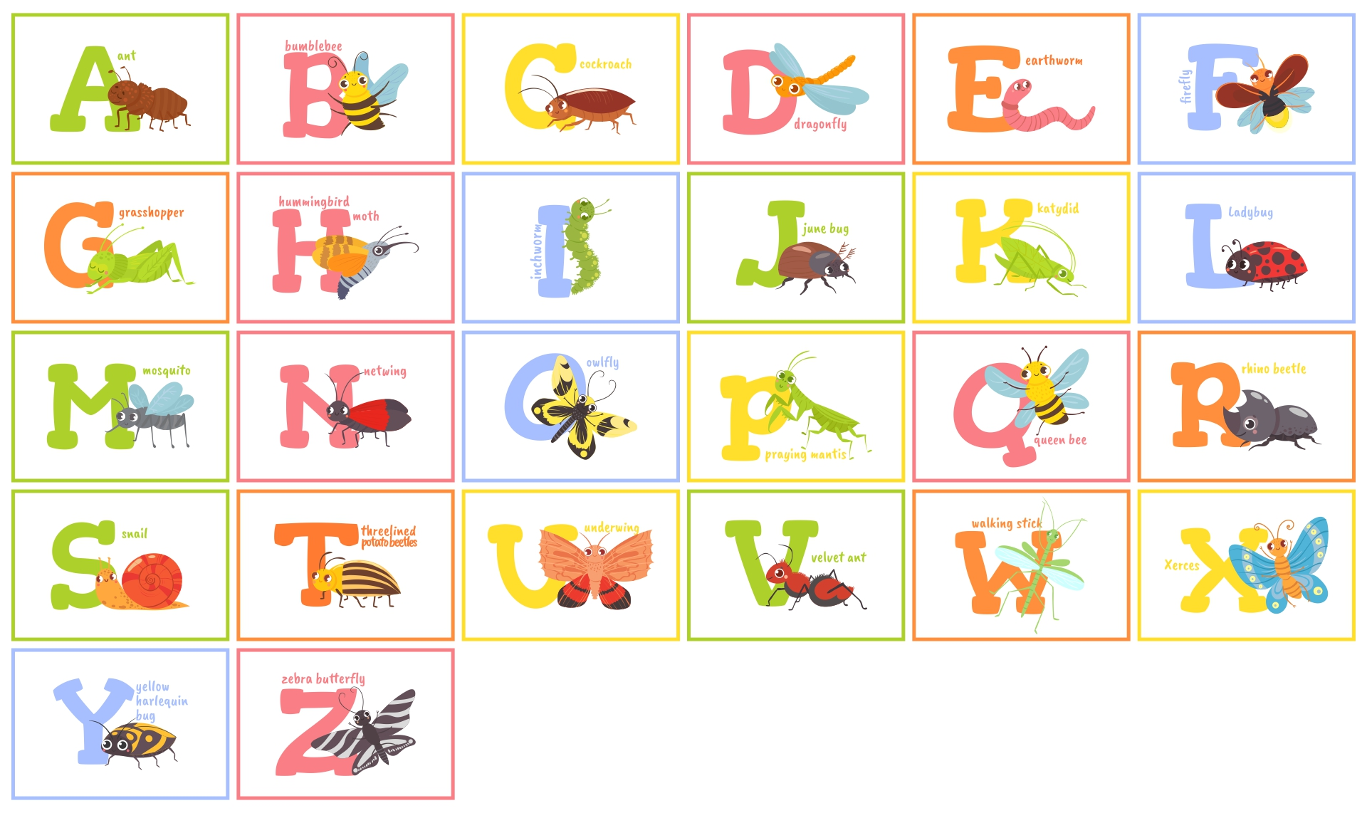 Printable Alphabet Wall Posters